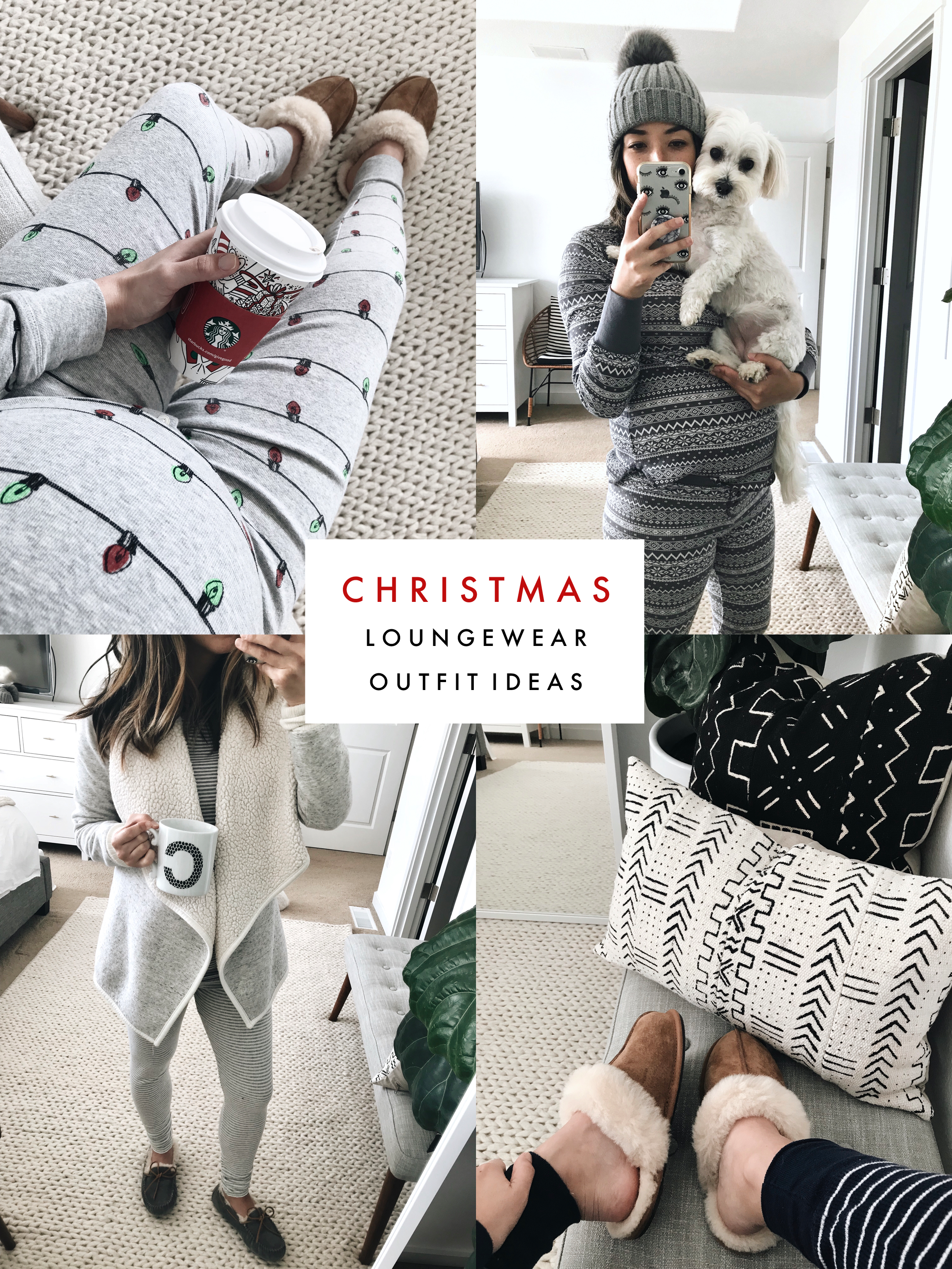 CHRISTMAS LOUNGEWEAR OUTFIT IDEAS