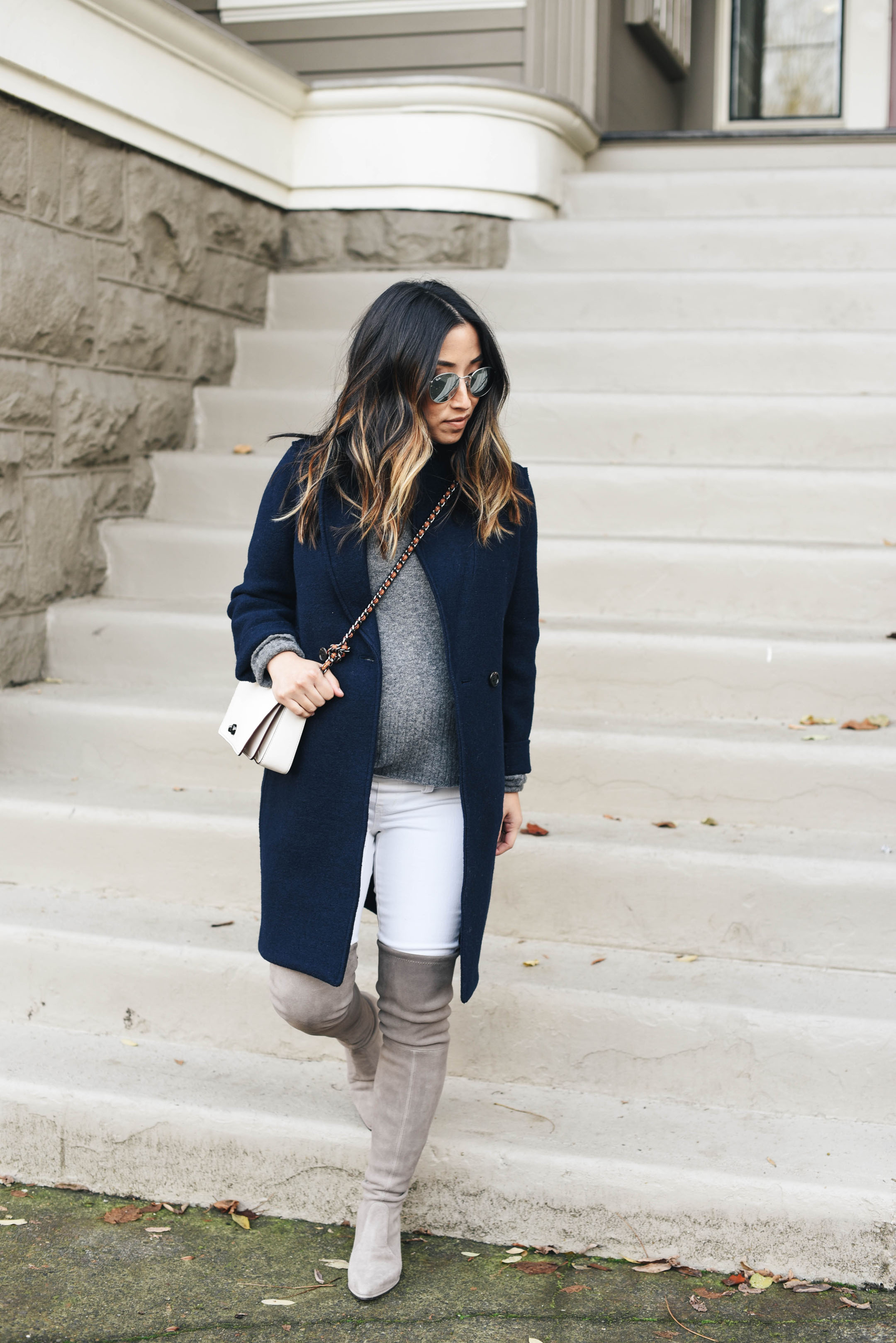 Madewell white maternity jeans