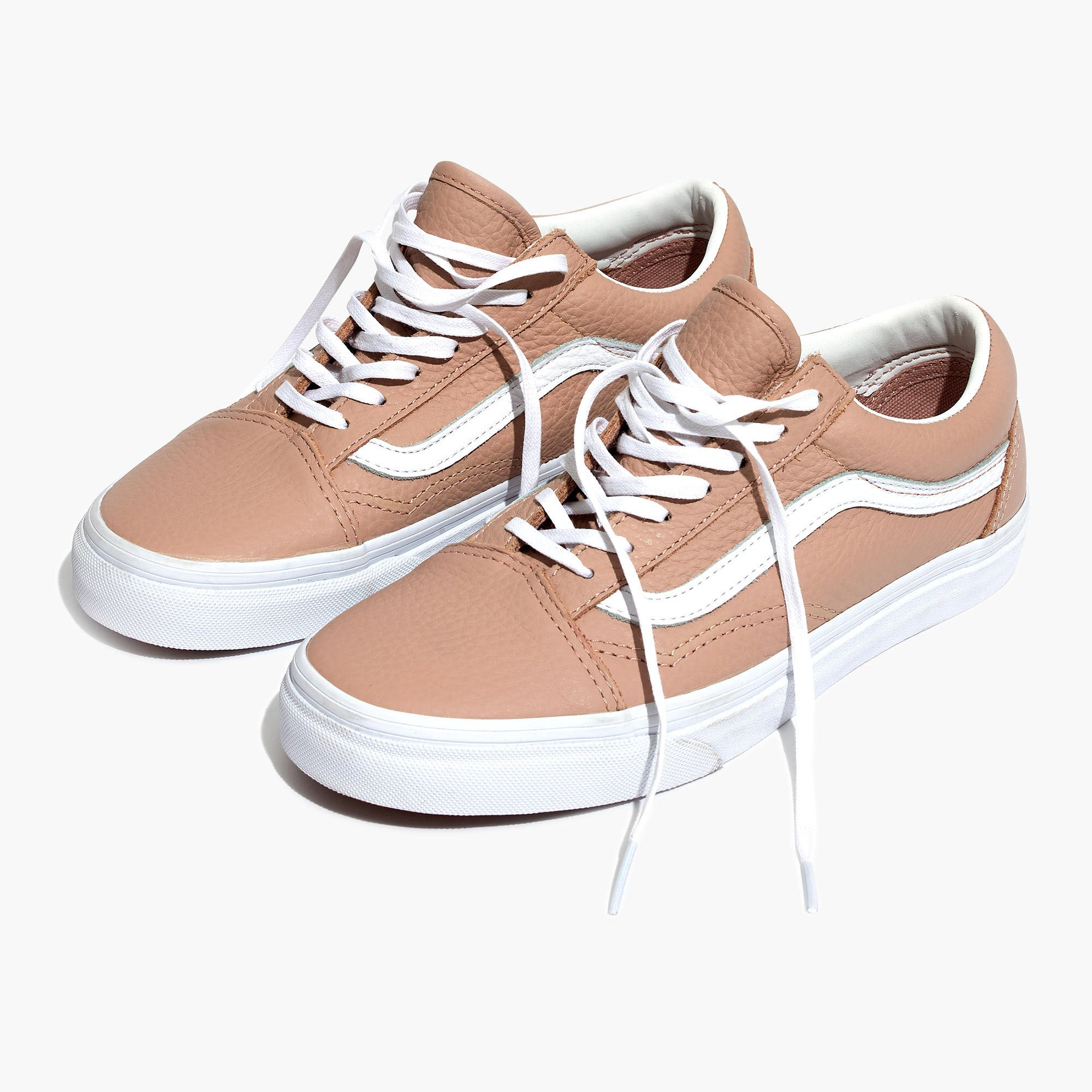 Vans rose leather sneakers