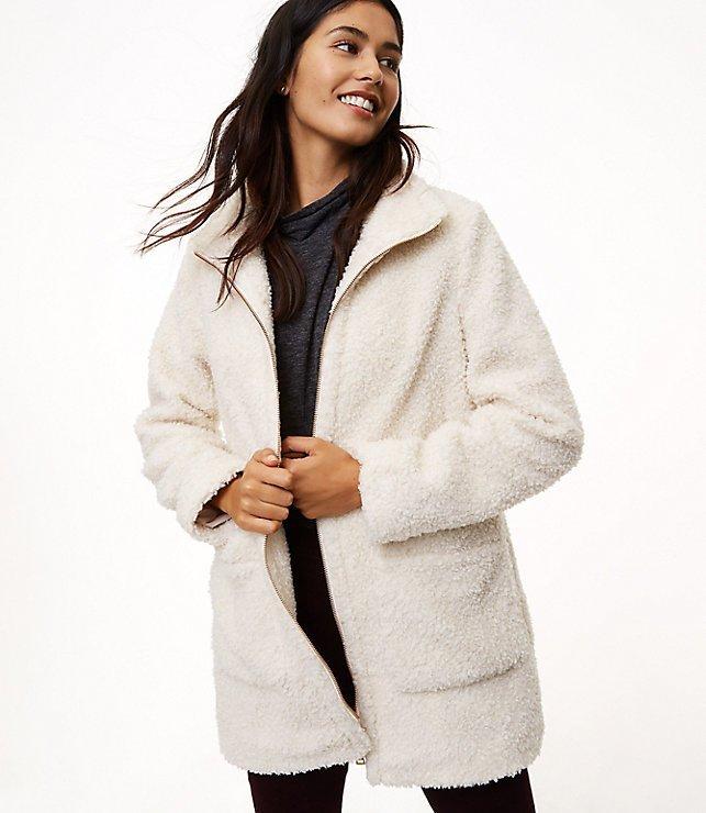 Loft sherpa coat