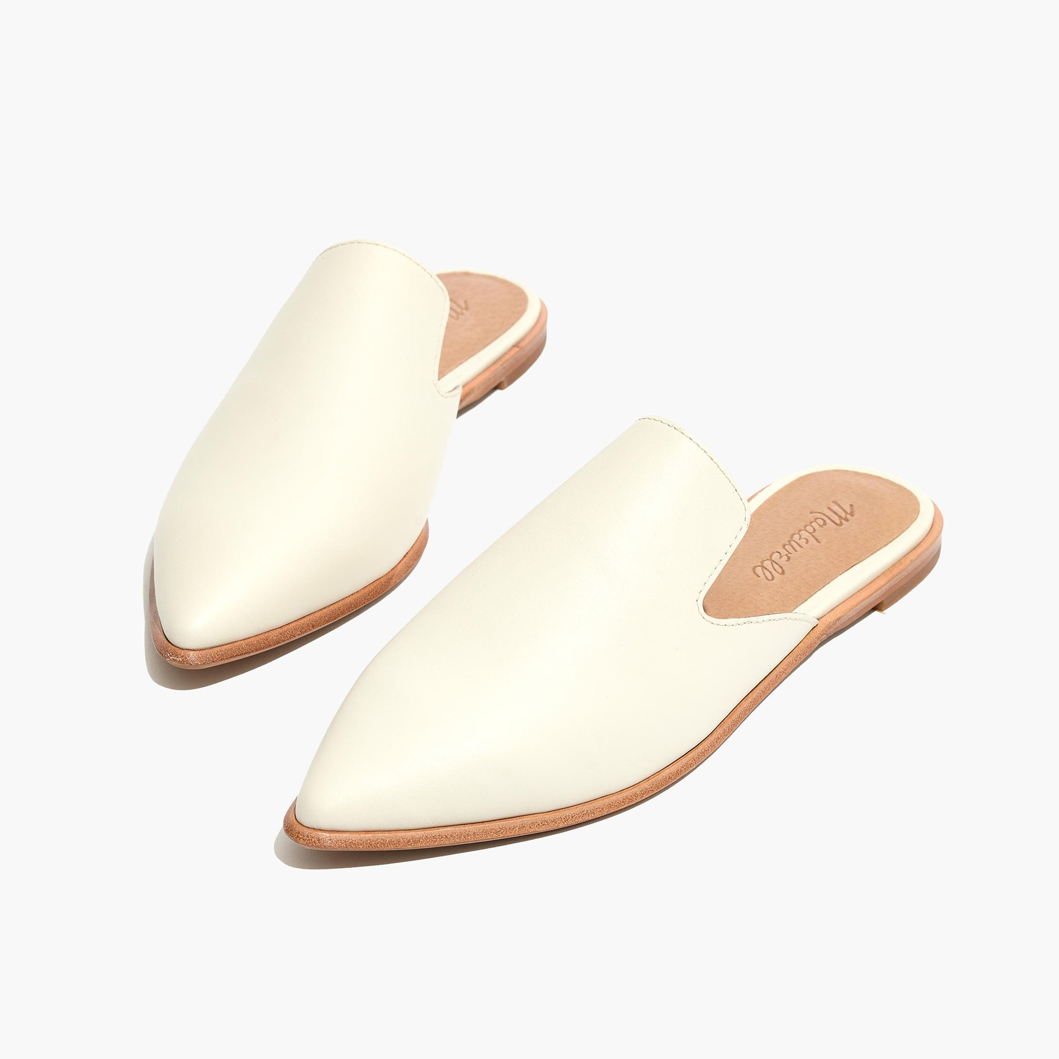 Madewell gemma mules in cream