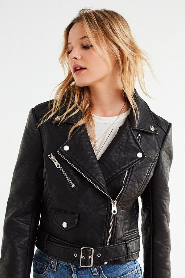 Pebbled faux leather jacket 2