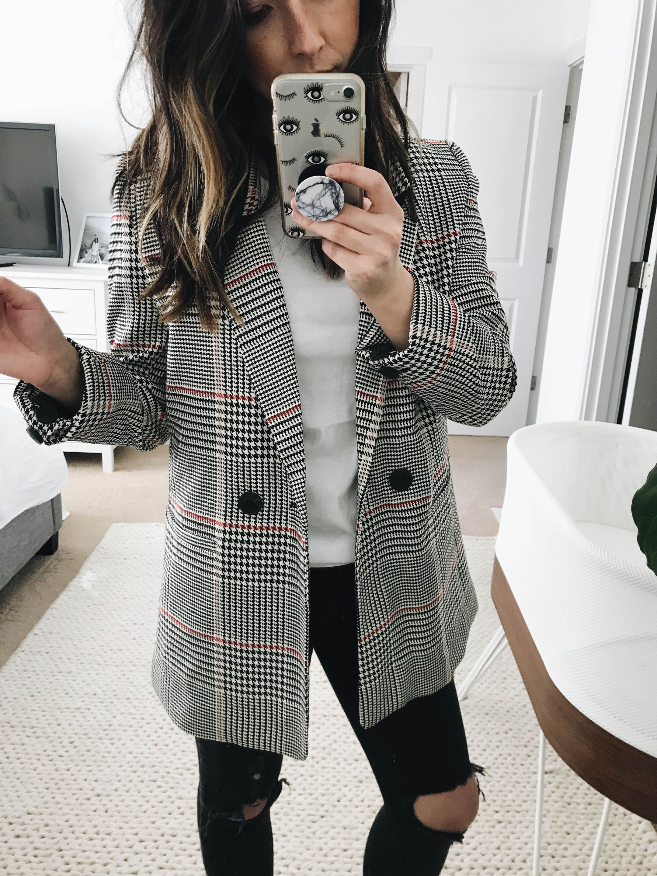 Anine Bing Plaid Blazer 4