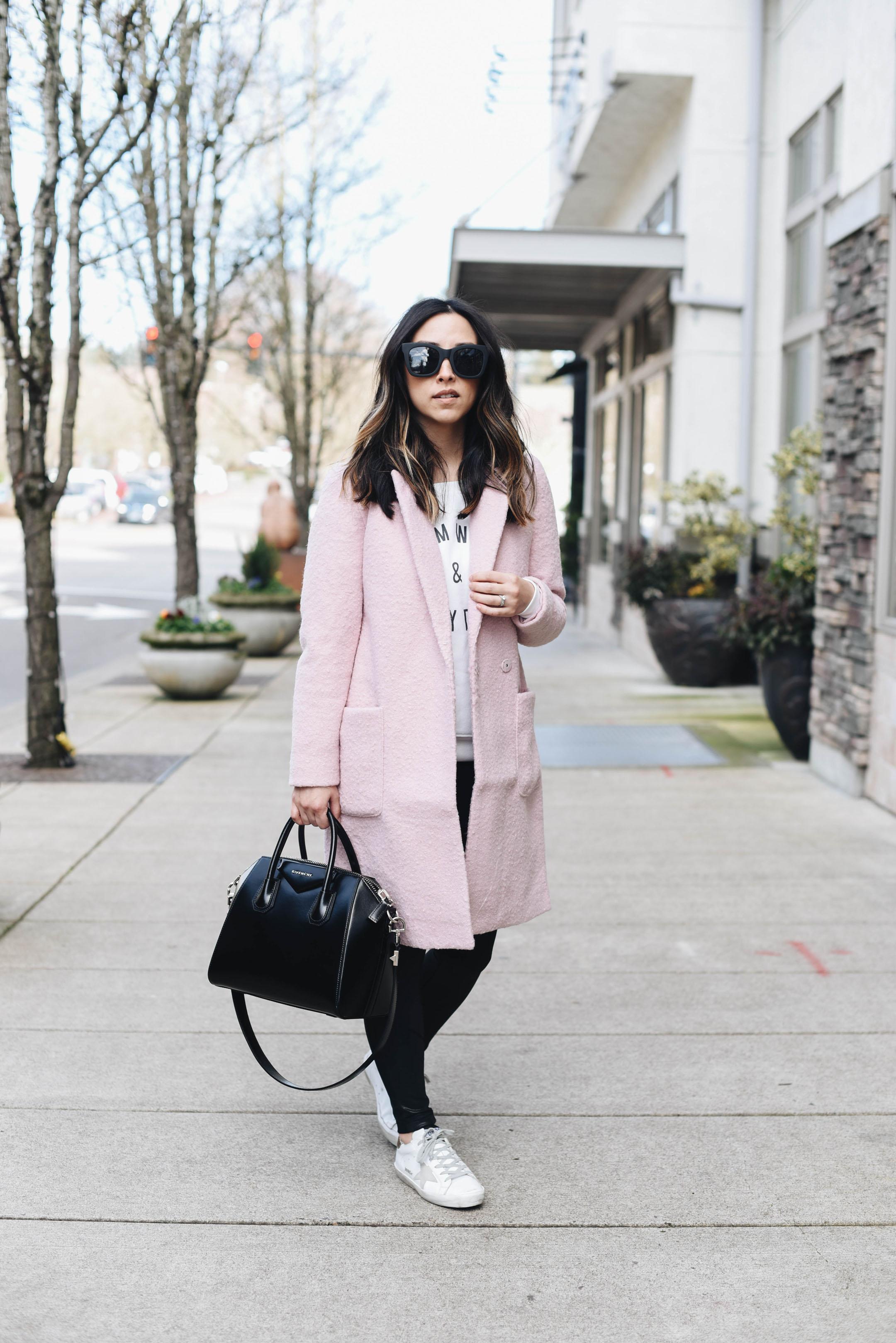 Asos pink coat