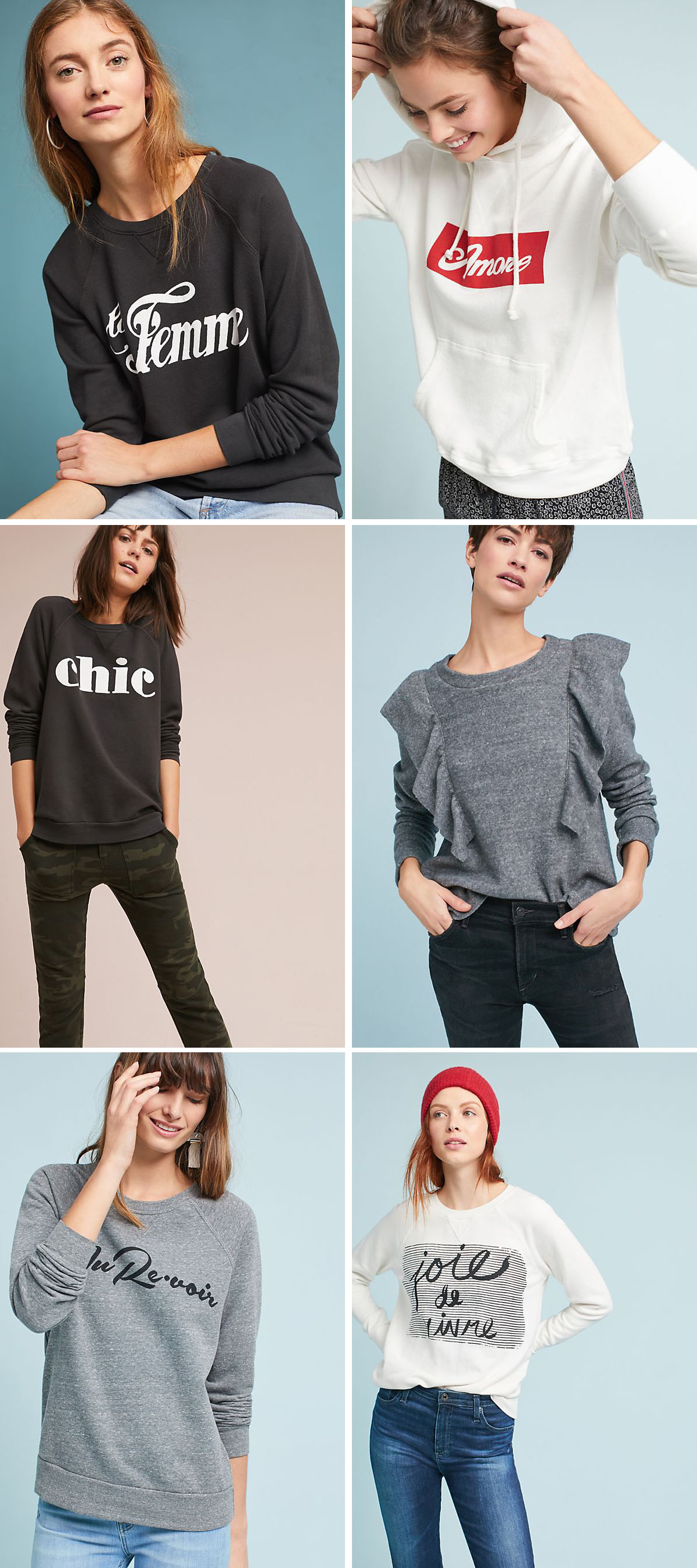 Chic Sweatshirts on Trend for 2018