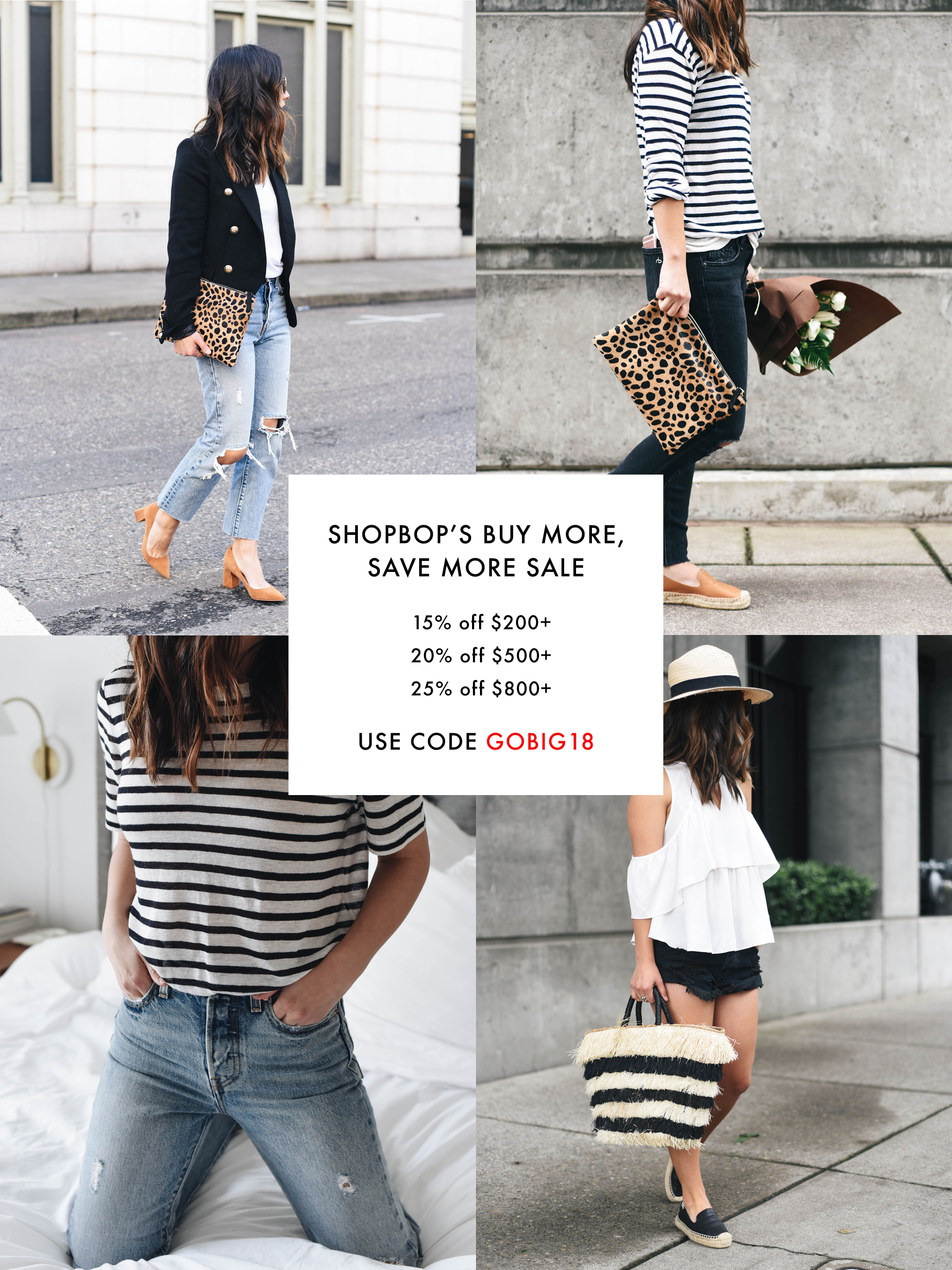 065f31d3b8 It's the first big sale of 2018! Shopbop's Buy More, Save More Sale is here  and I couldn't be more excited. Get 15% off when you spend $200 or more, ...