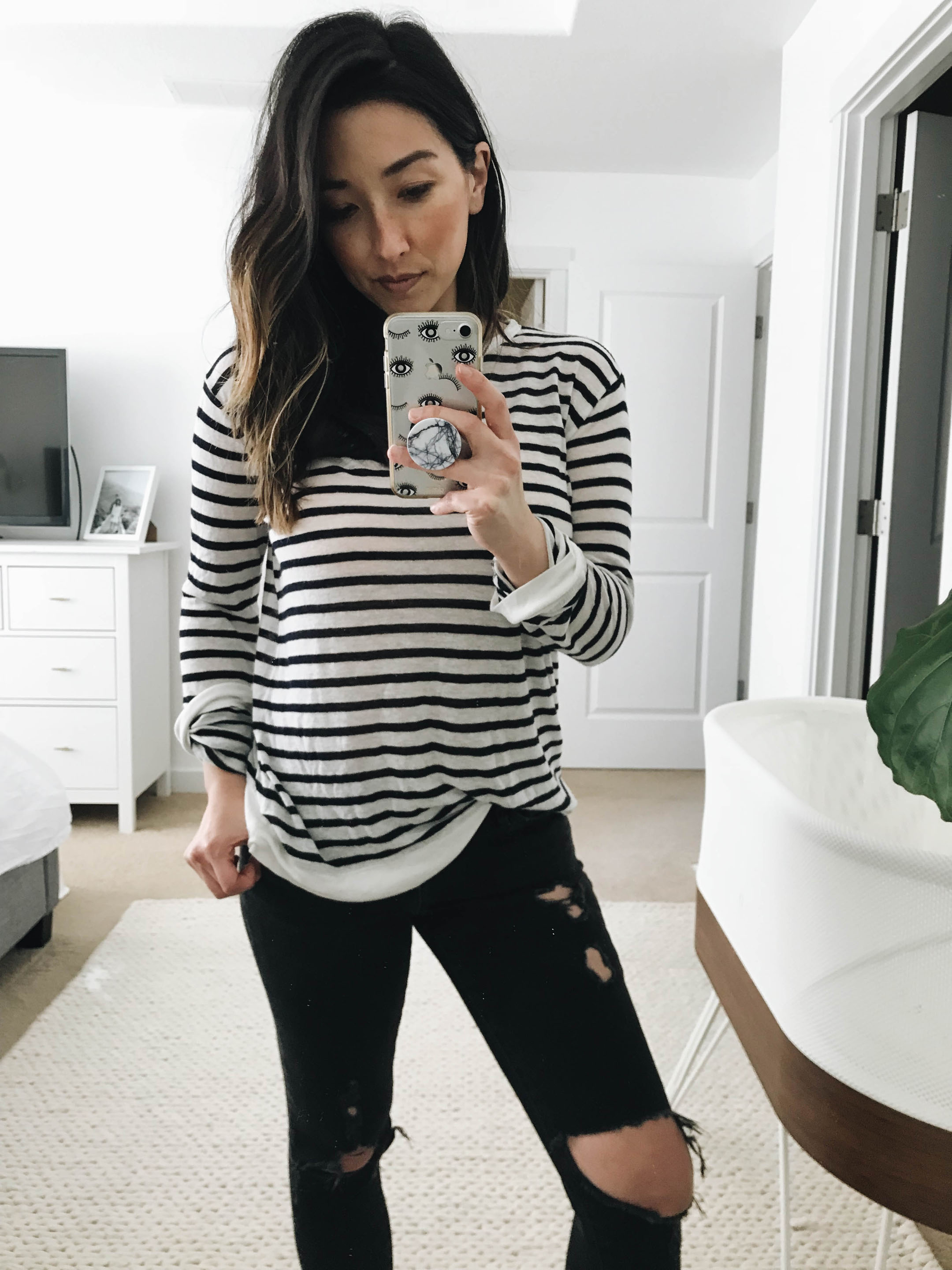 T By Alexander Wang Stripe tee