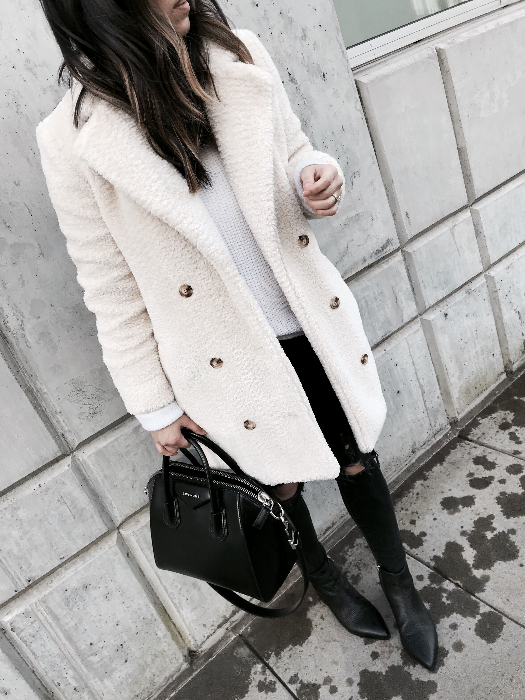 Anthropologie sherpa coat