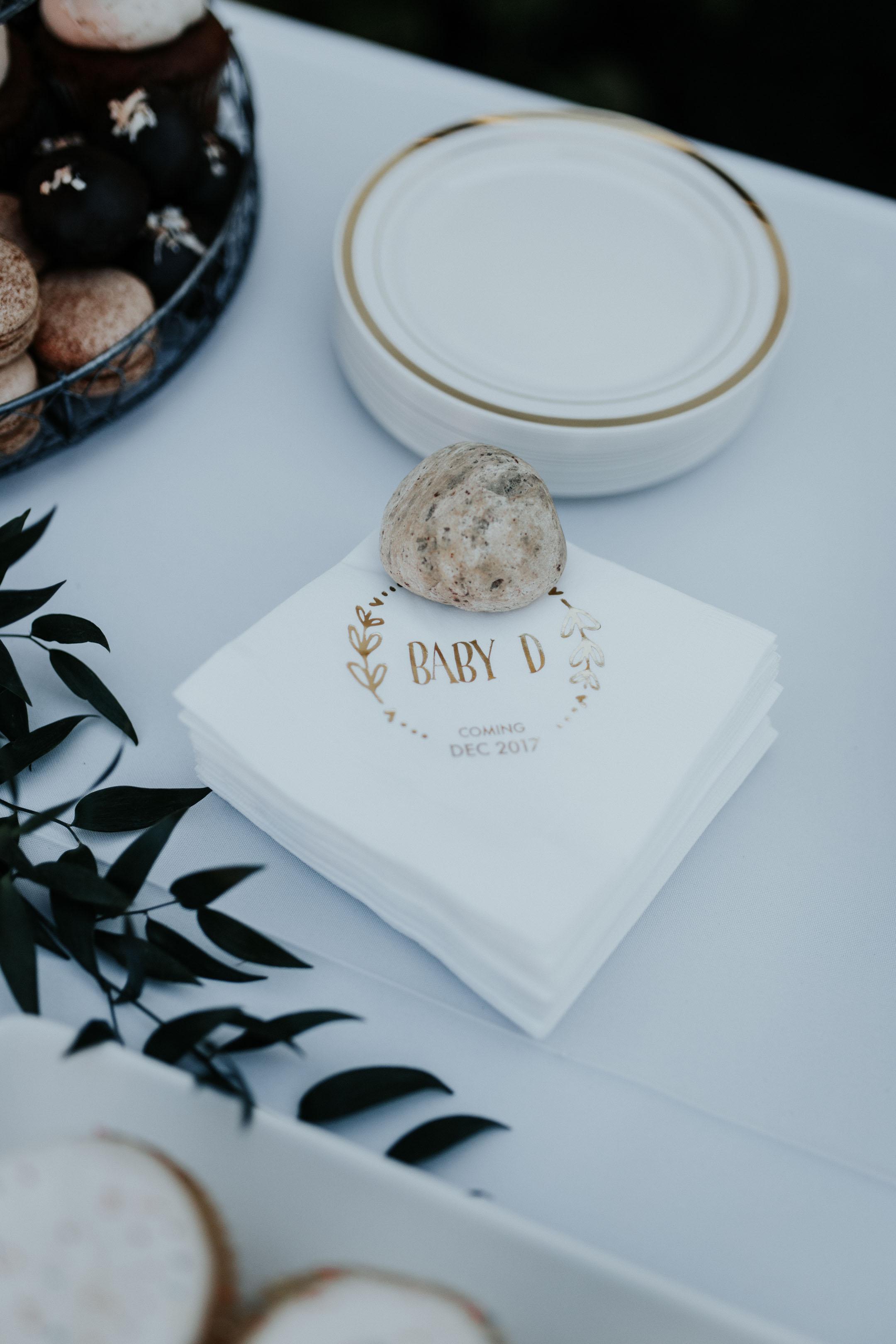 Baby D custom napkins