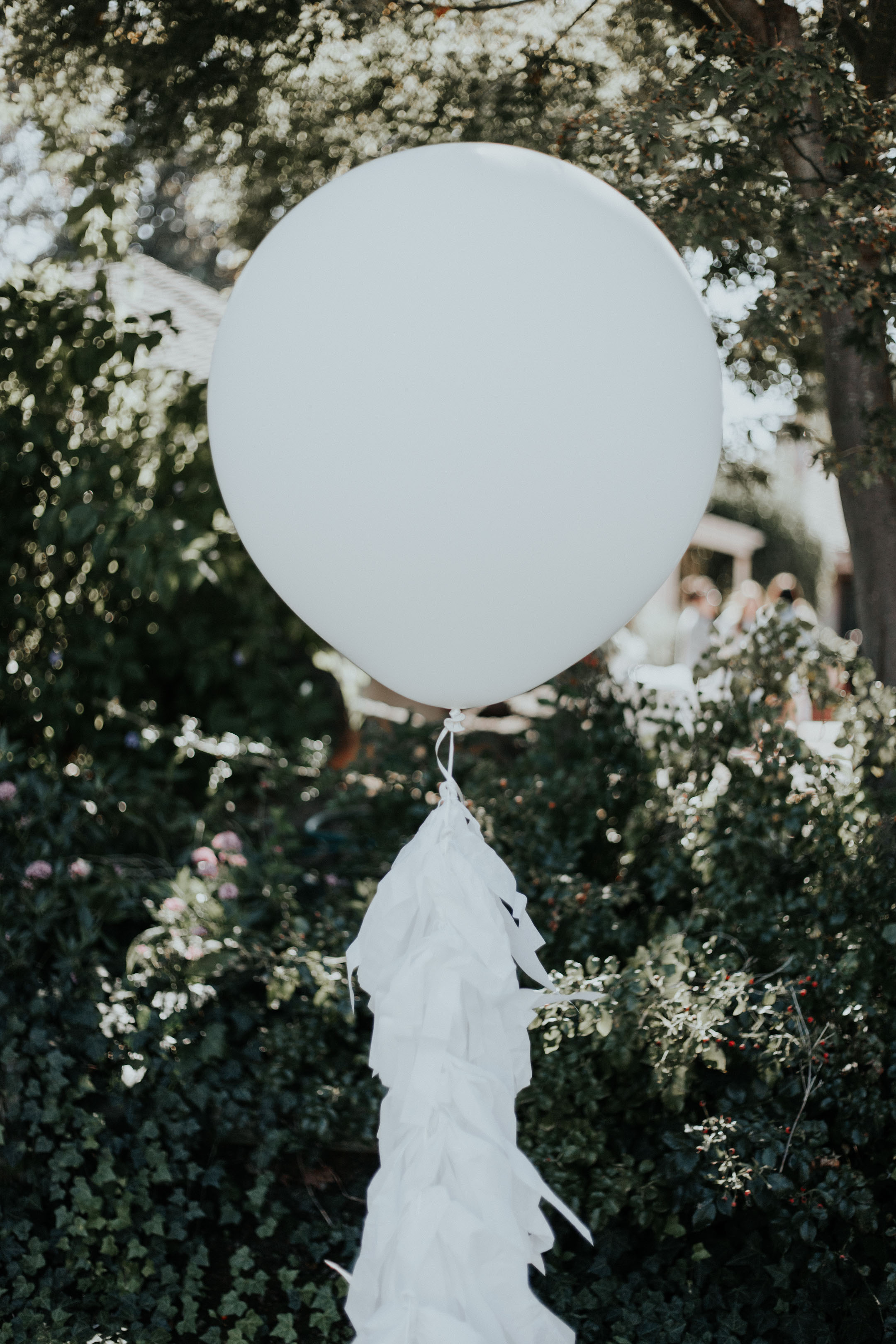 Crystalin Marie Baby Shower White giant balloon