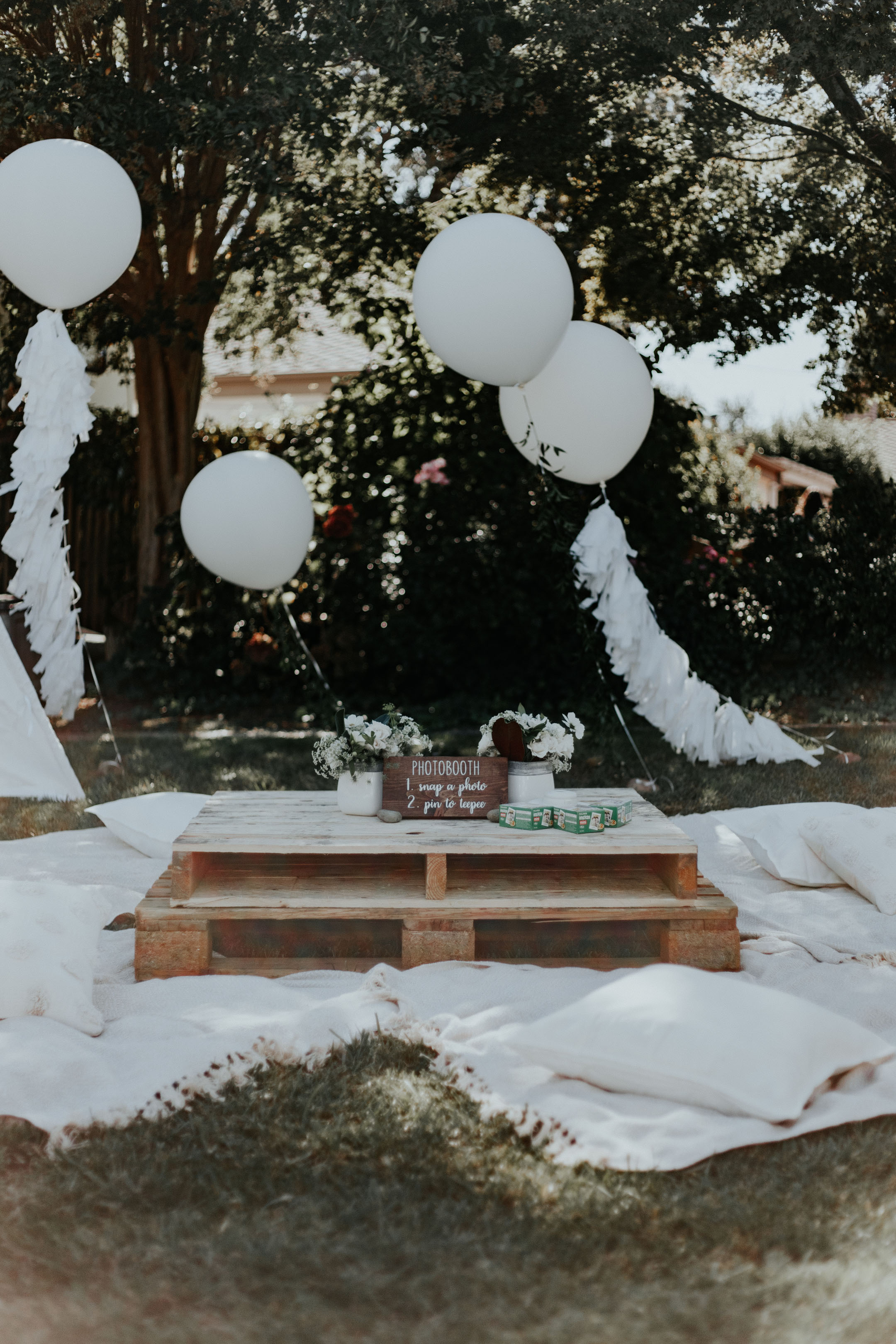 Crystalin Marie Baby Shower decor