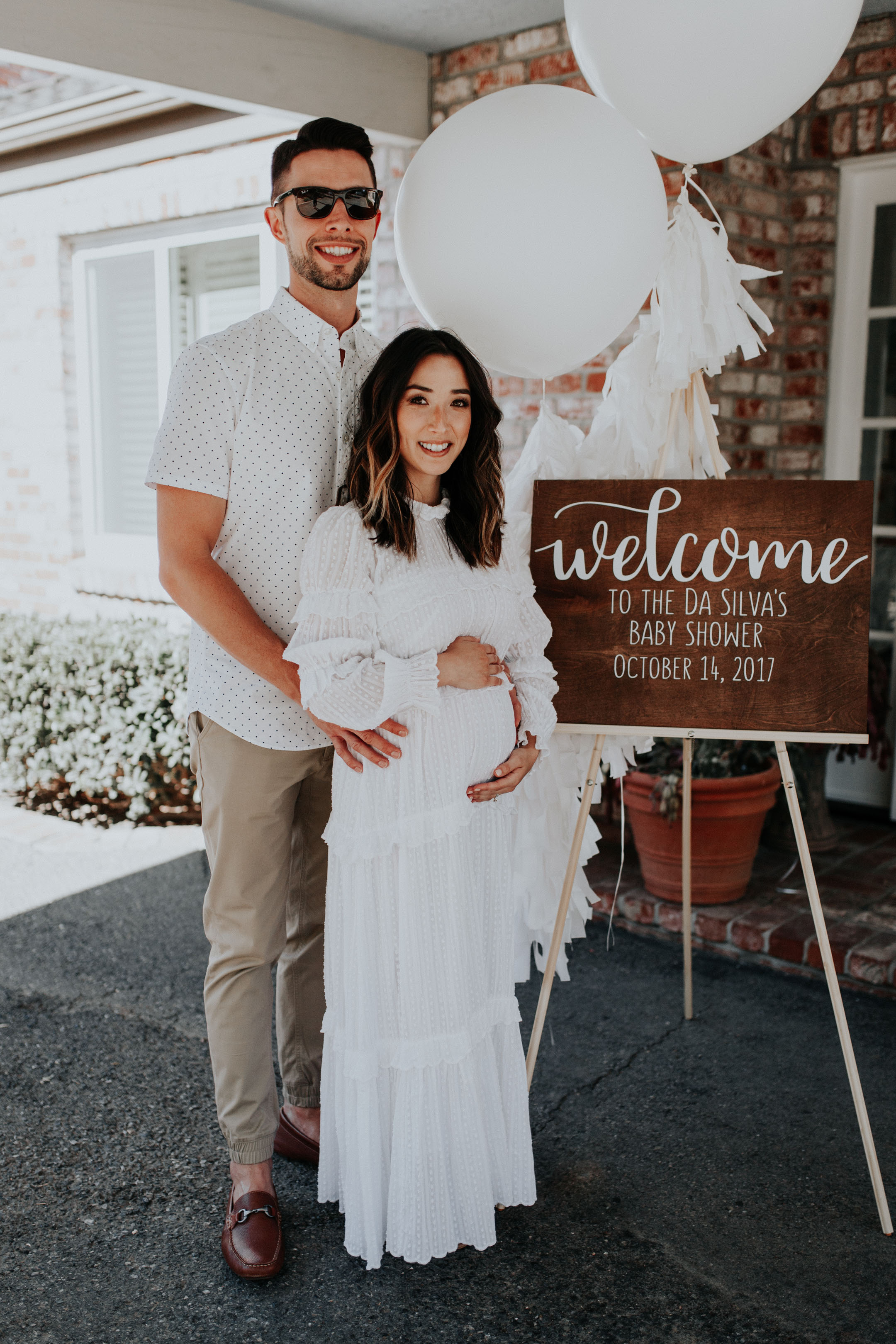 Crystalin Marie baby shower welcome sign