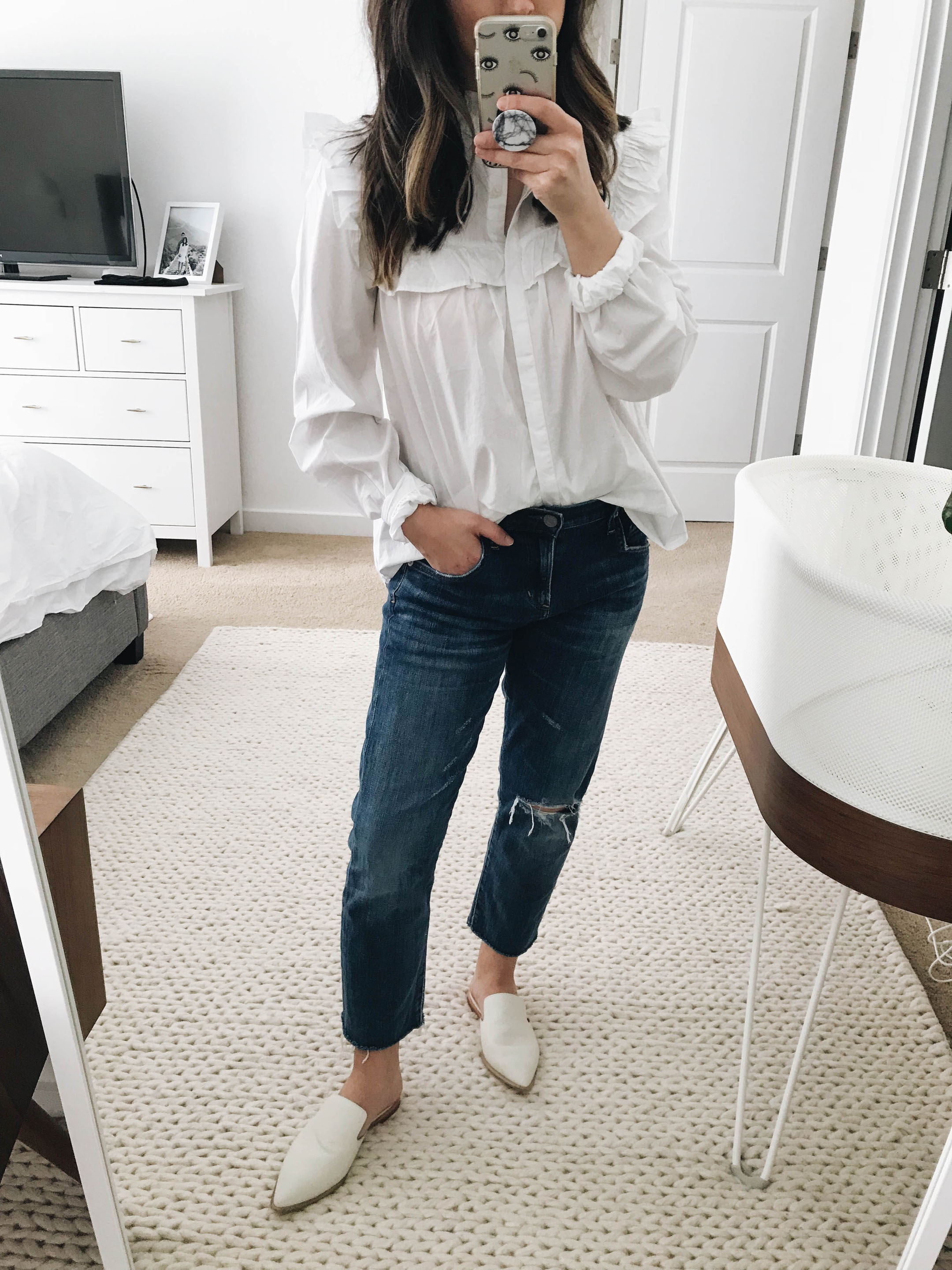 Gap peasant blouse