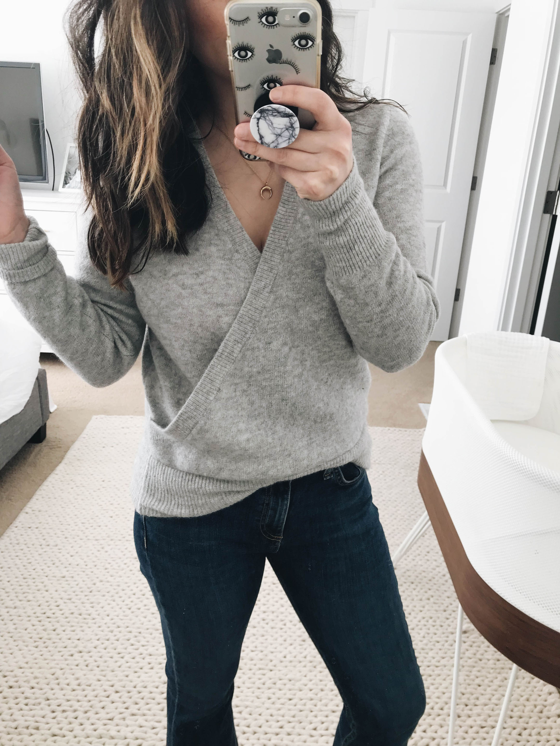 Madewell wrap sweater