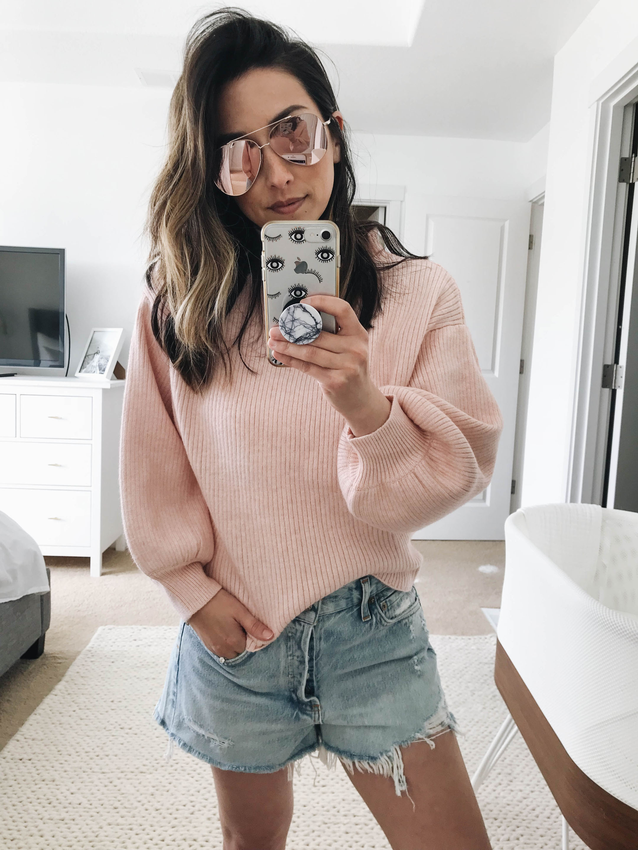 Line and Dot pink sweater 2