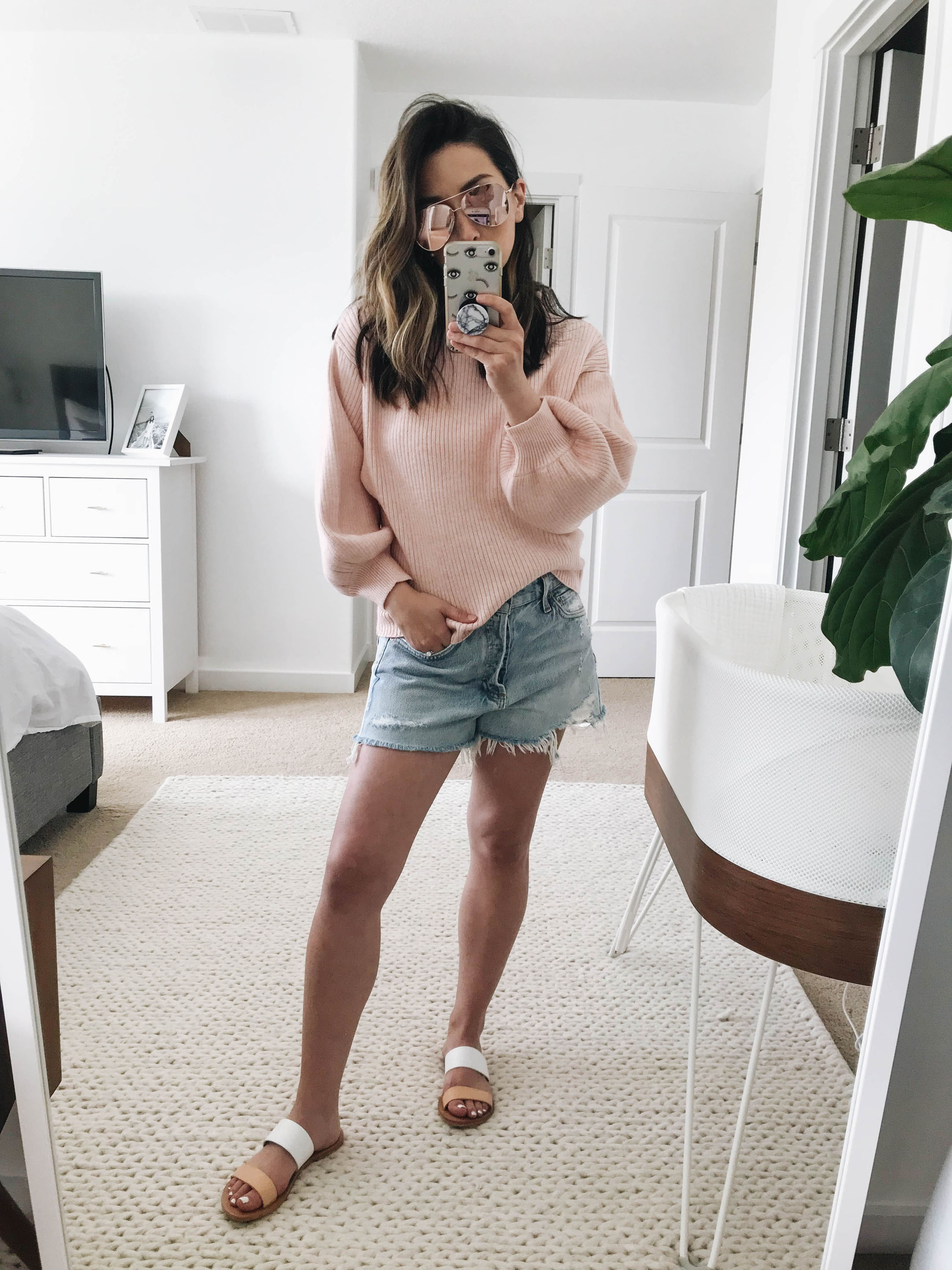 Line and Dot pink sweater