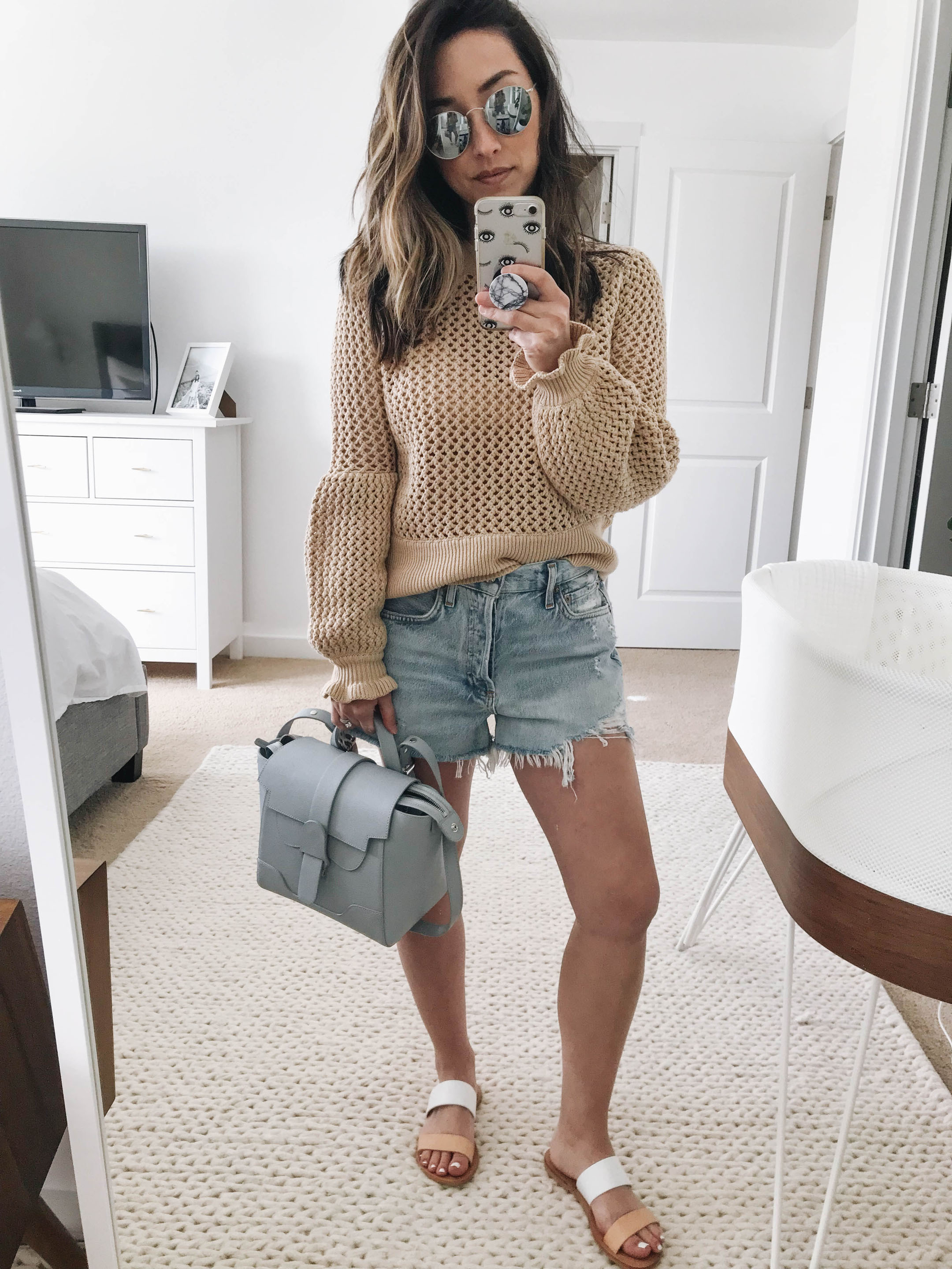 Rebecca Minkoff cropped fisherman sweater
