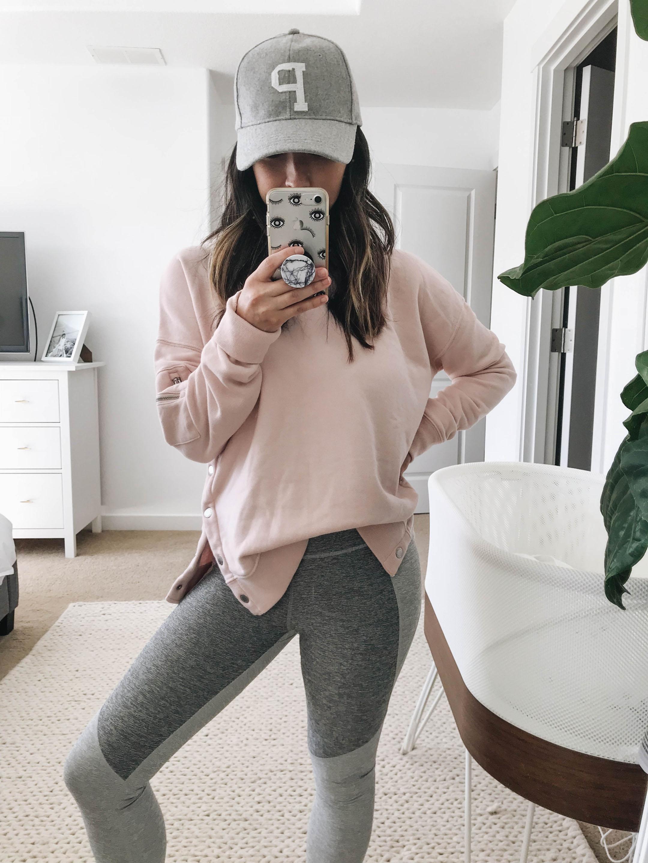 A&F pink hoodie