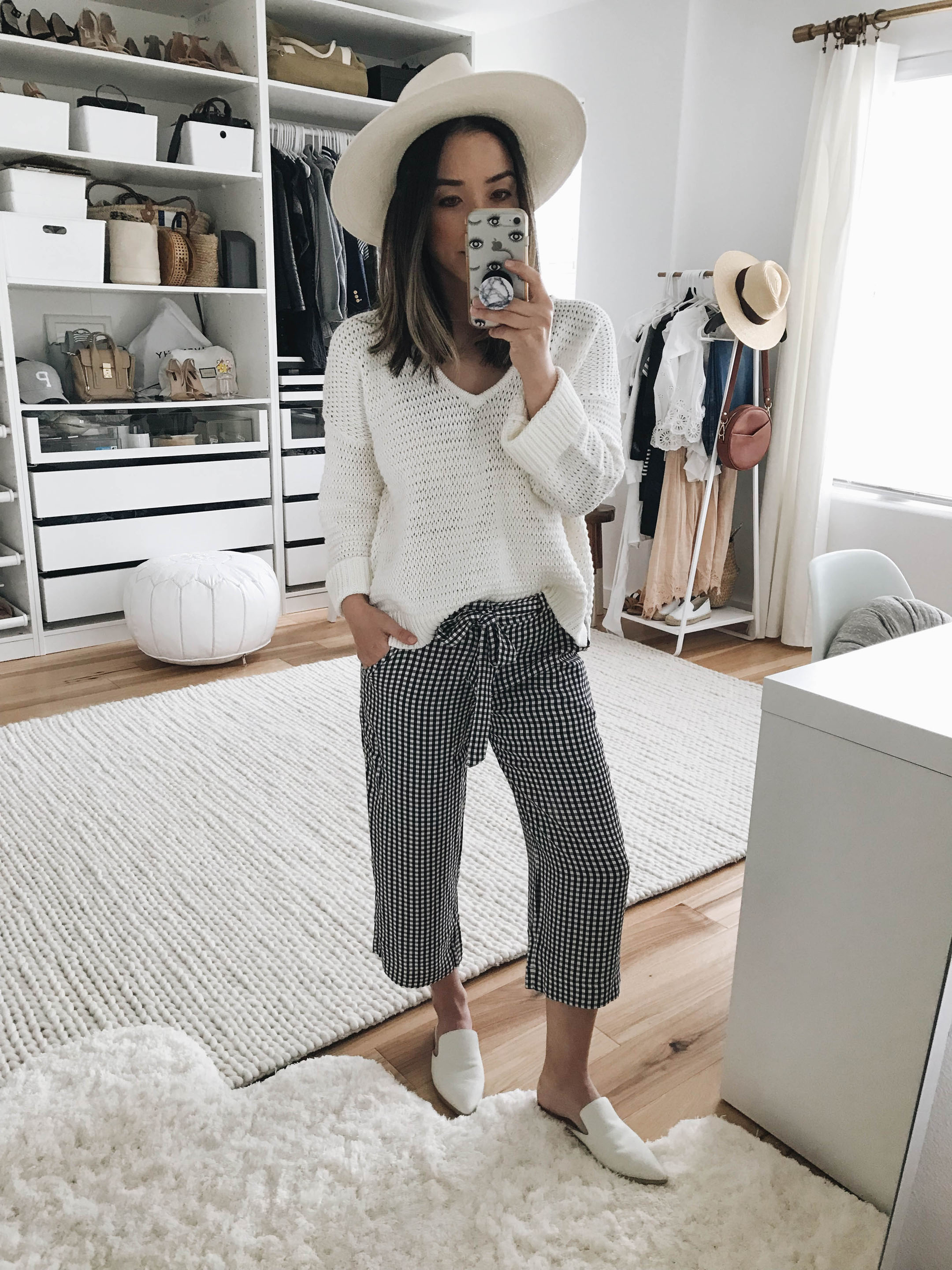 Anthropologie gingham pants