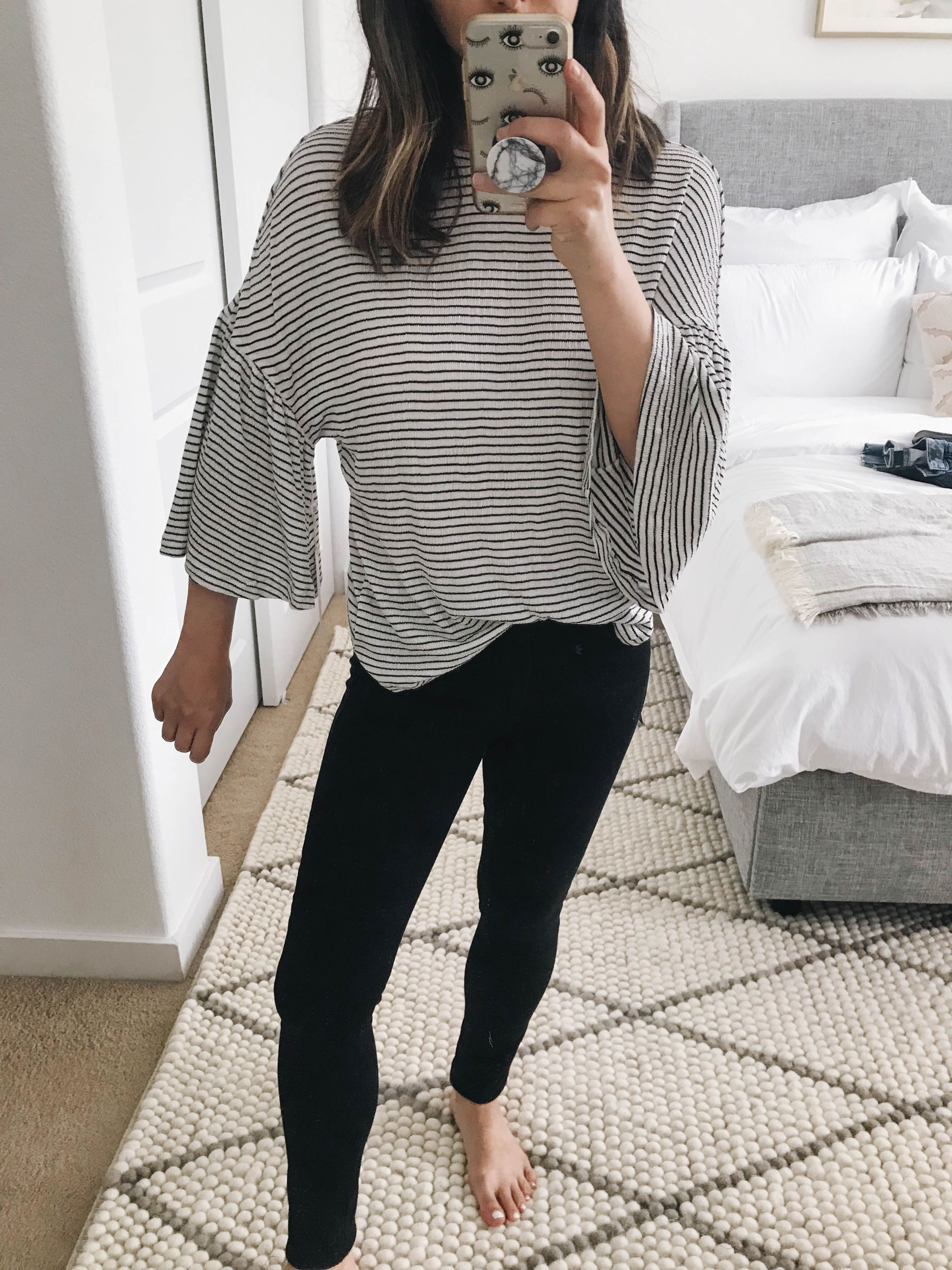 3927a49405e65 Caslon Stripe Bell Sleeve Tee petite xxs – This tee was part of the Nordstrom  Anniversary Sale last year and they brought it back.