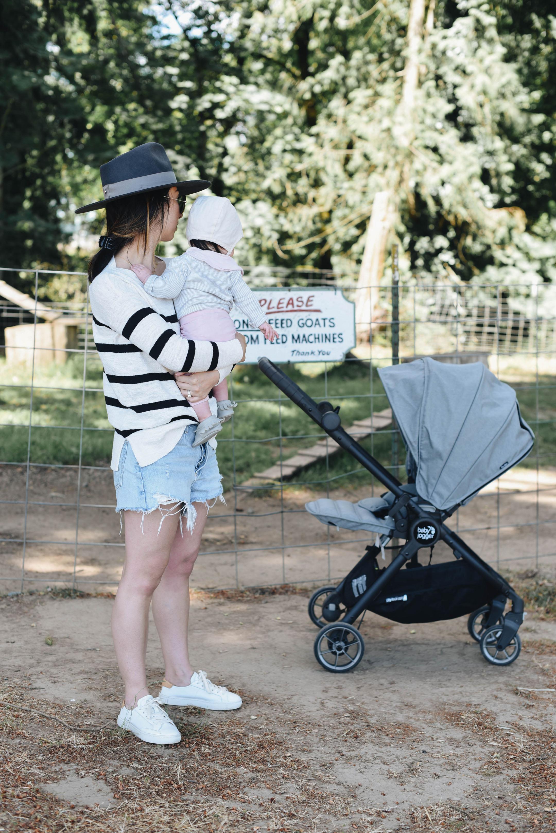 Crystalin Marie and Baby Jogger