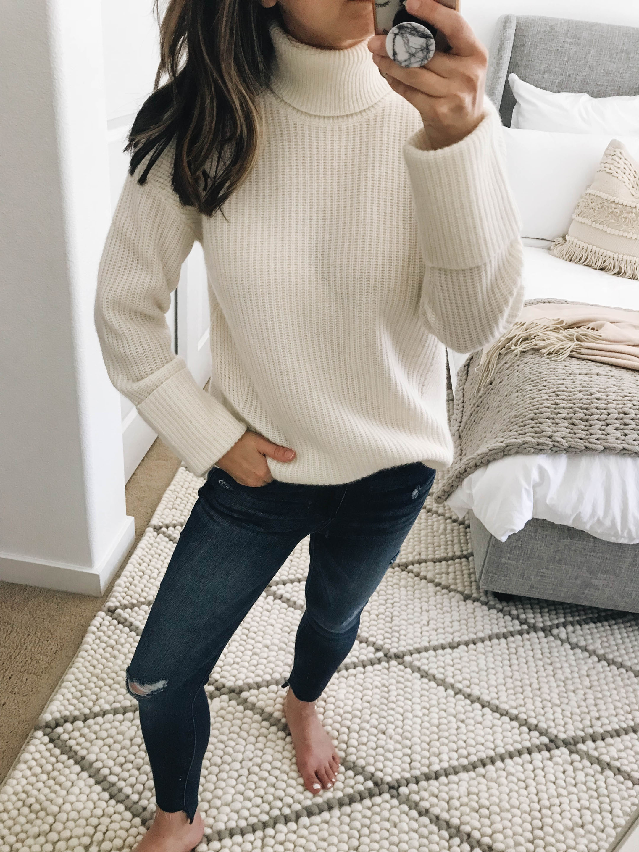 Halogen cashmere turtleneck 1