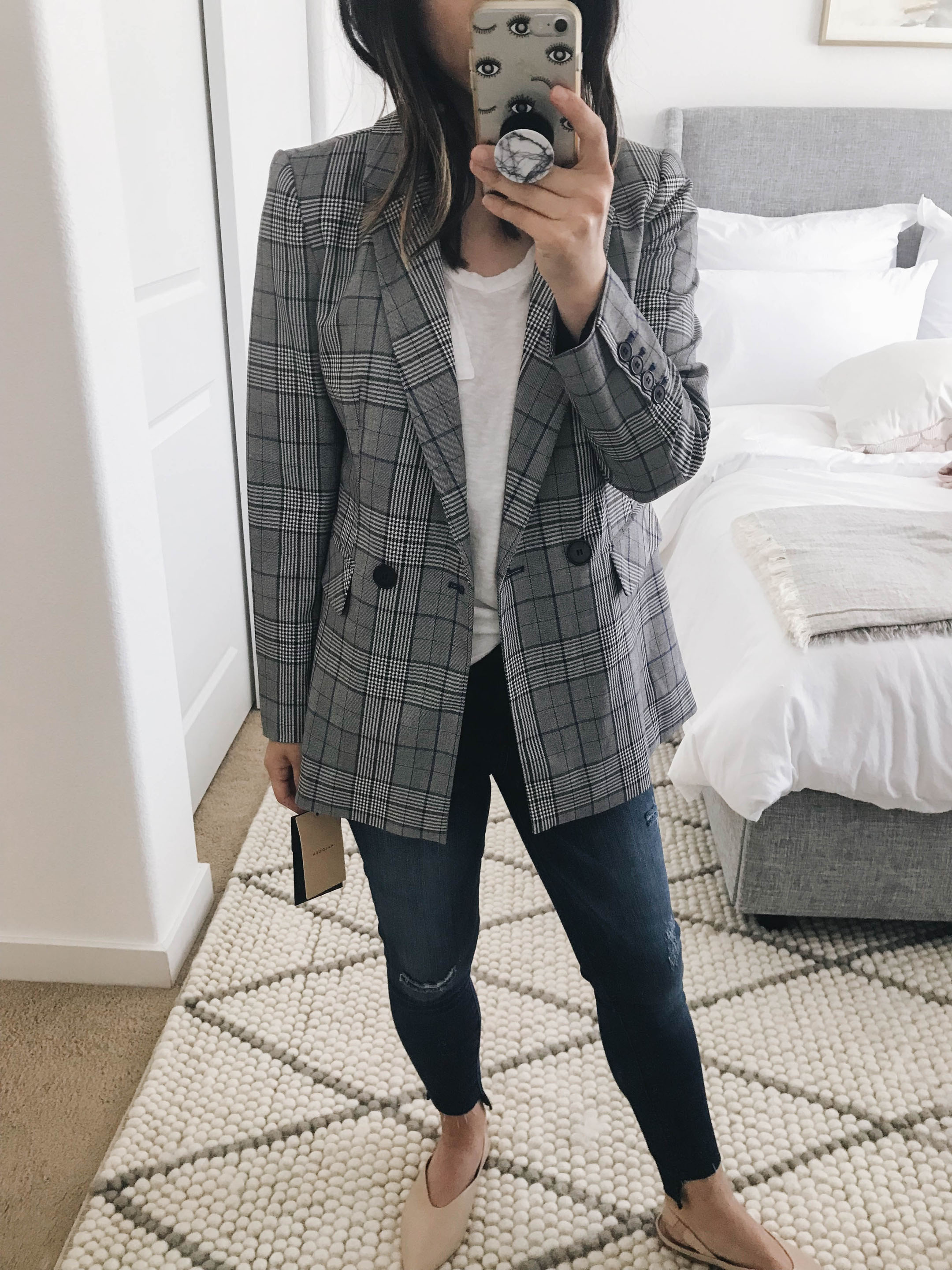 Halogen plaid blazer 1