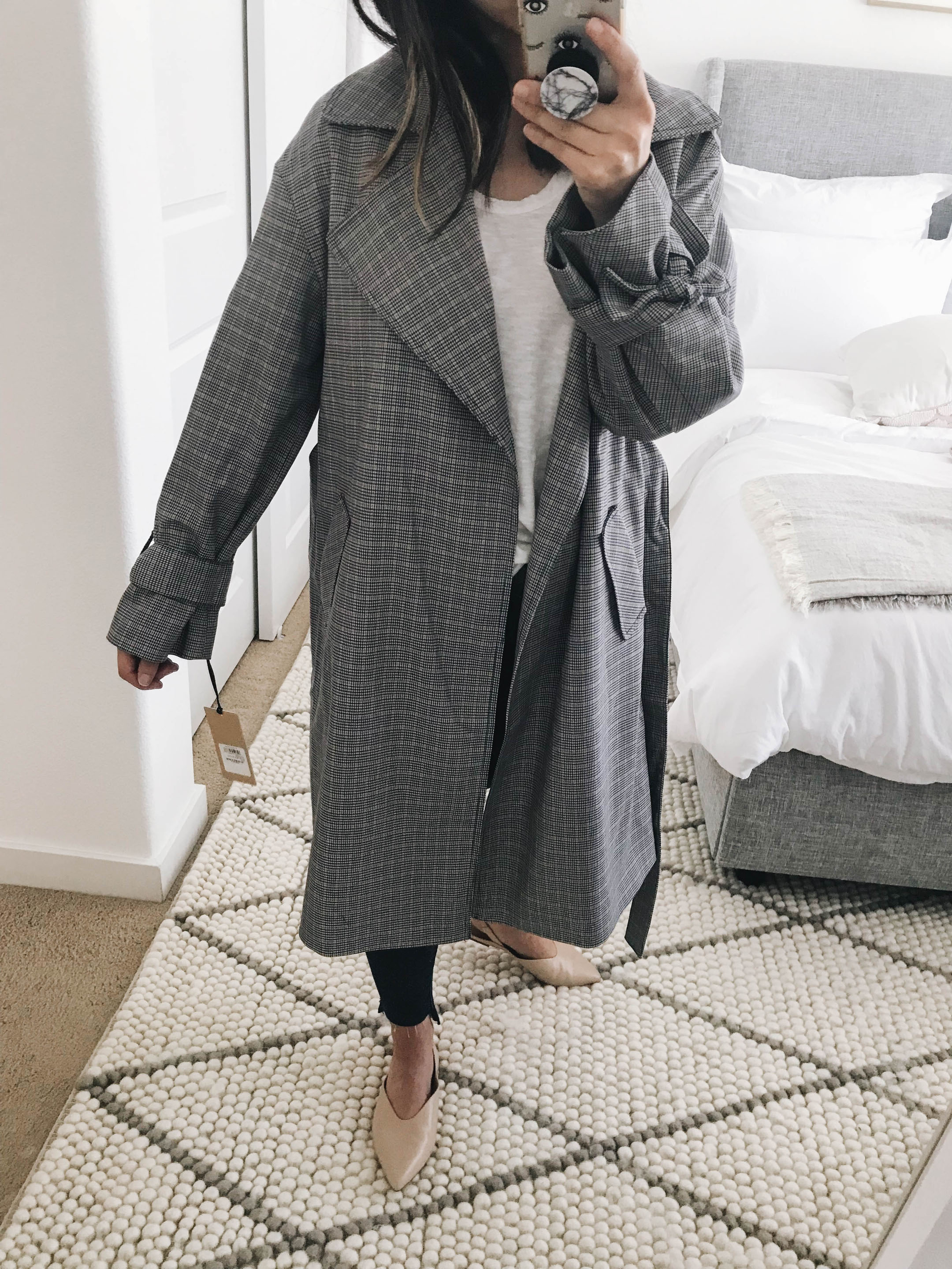 Halogen plaid trench 2