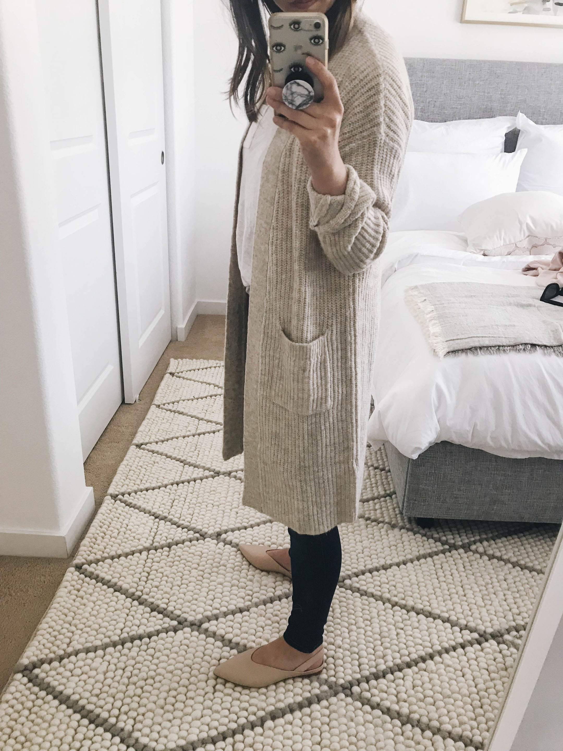 Halogen ribbed cardigan cream 1