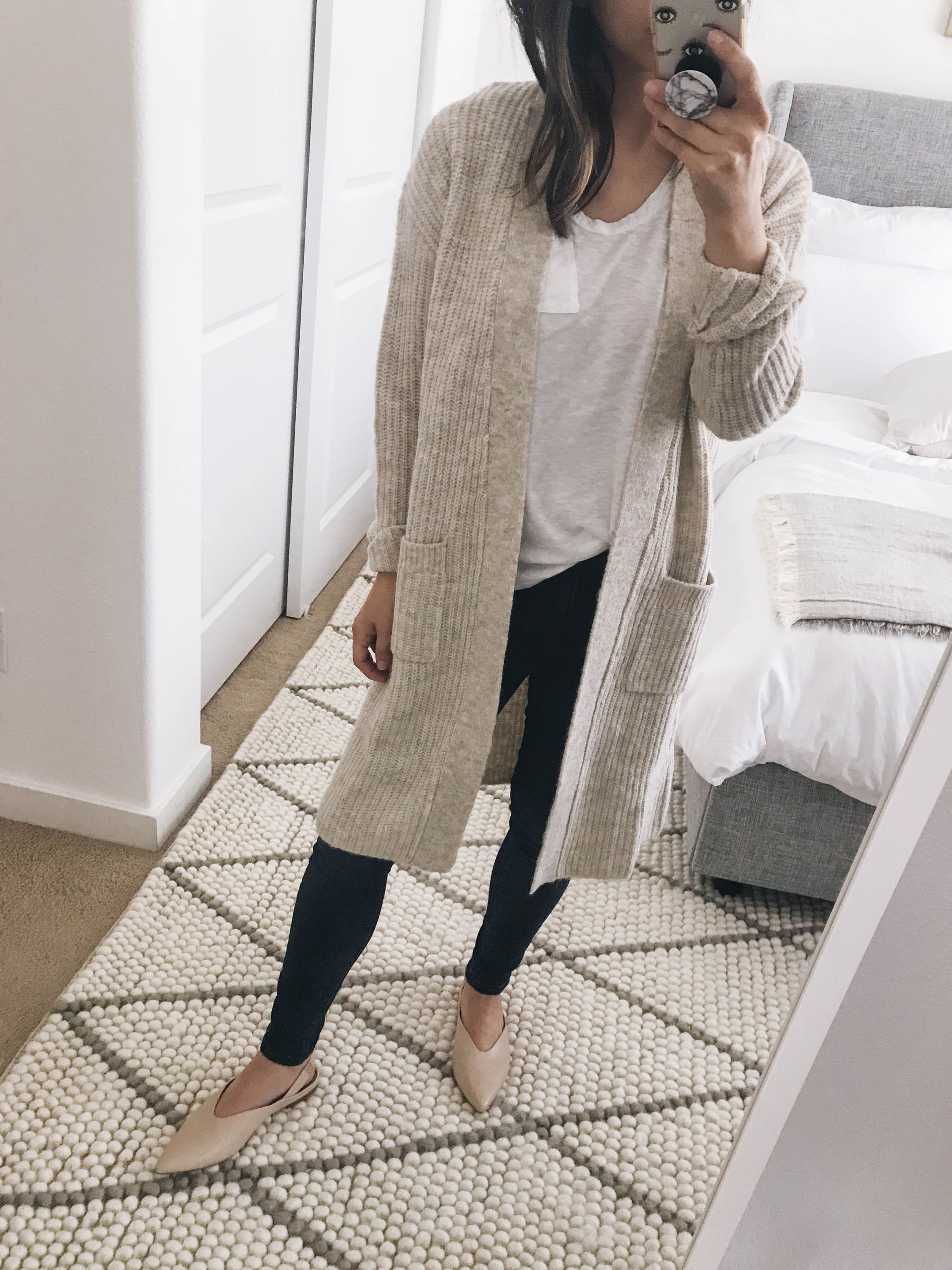 Halogen ribbed cardigan cream 2
