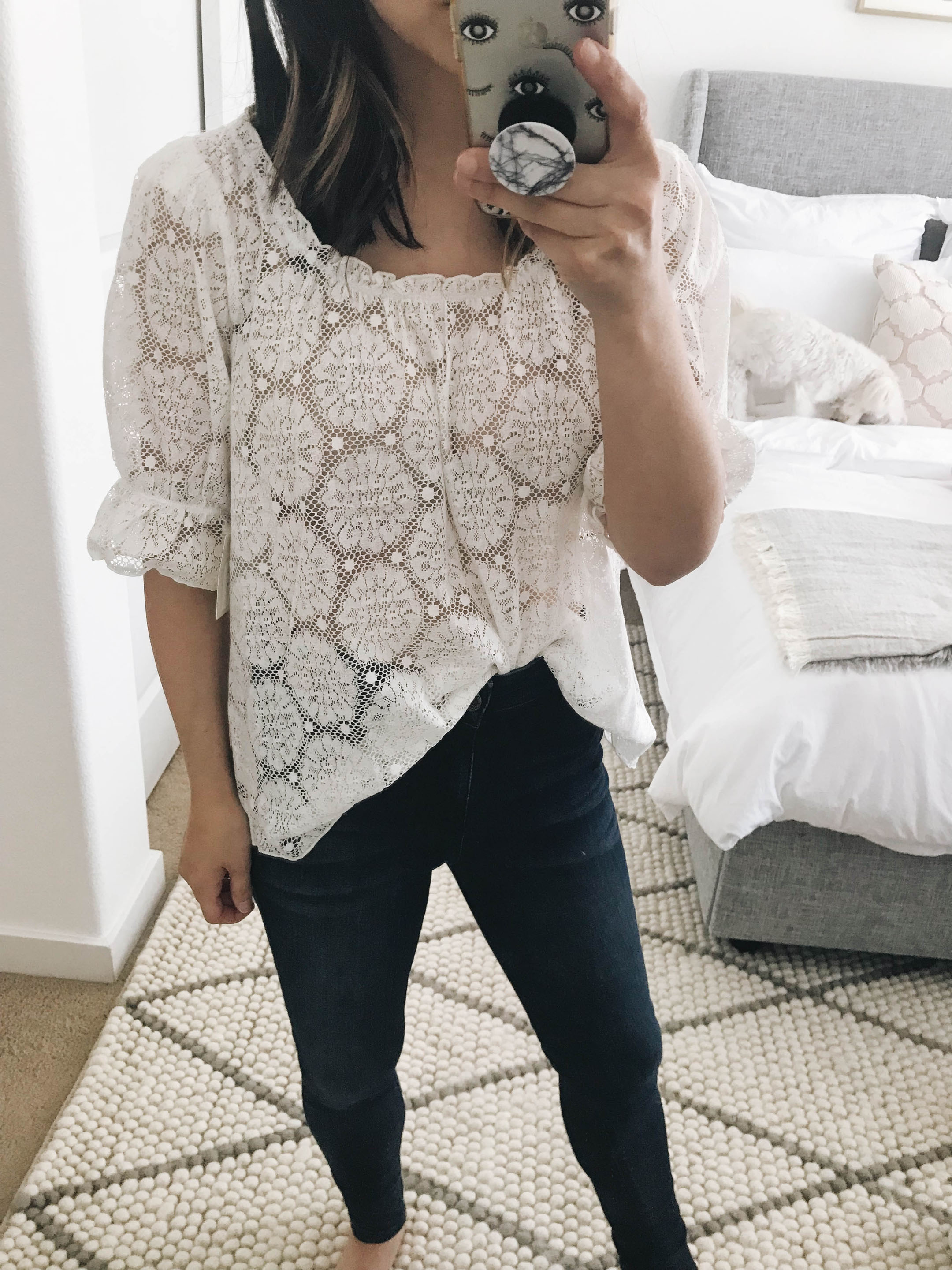 Hinge lace top 1