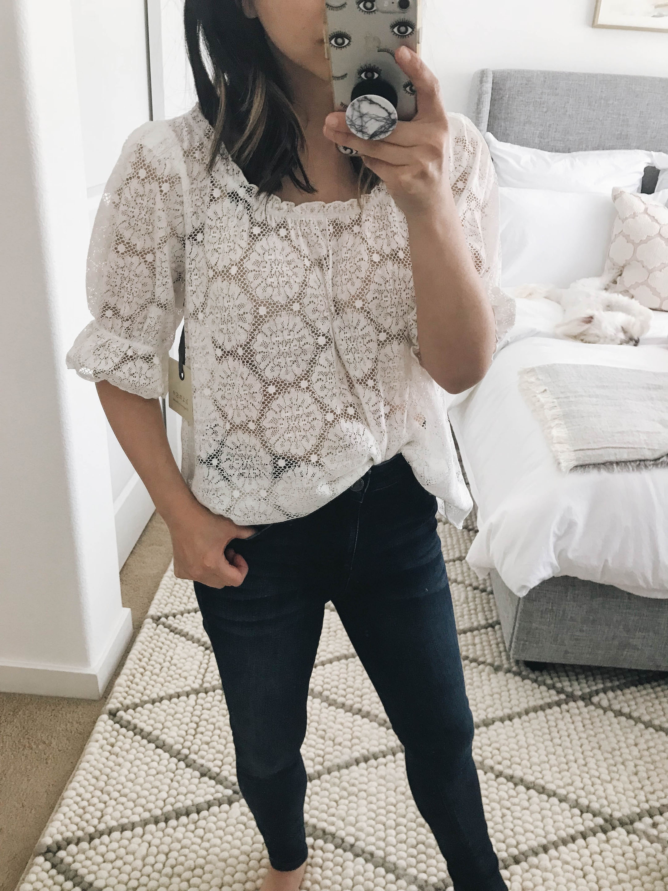 Hinge lace top 2