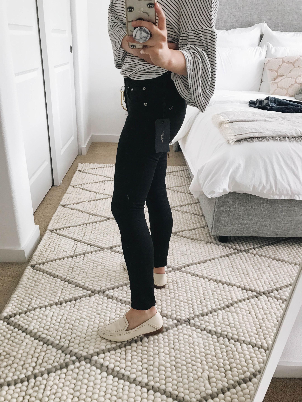 Rag & Bone black skinny jeans 1