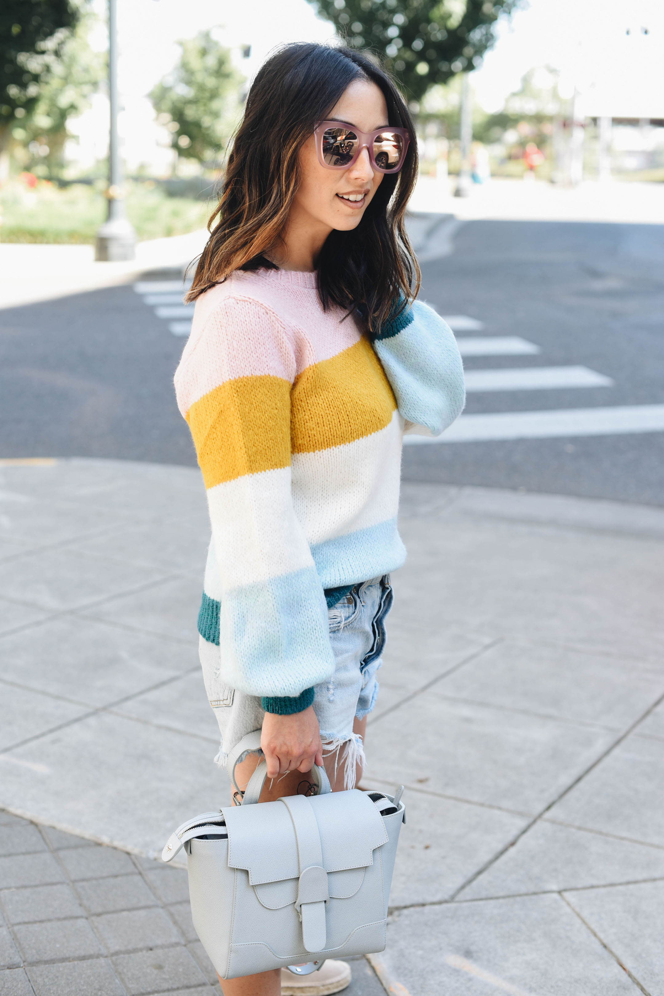 Topshop Colorblock knit pullover 1