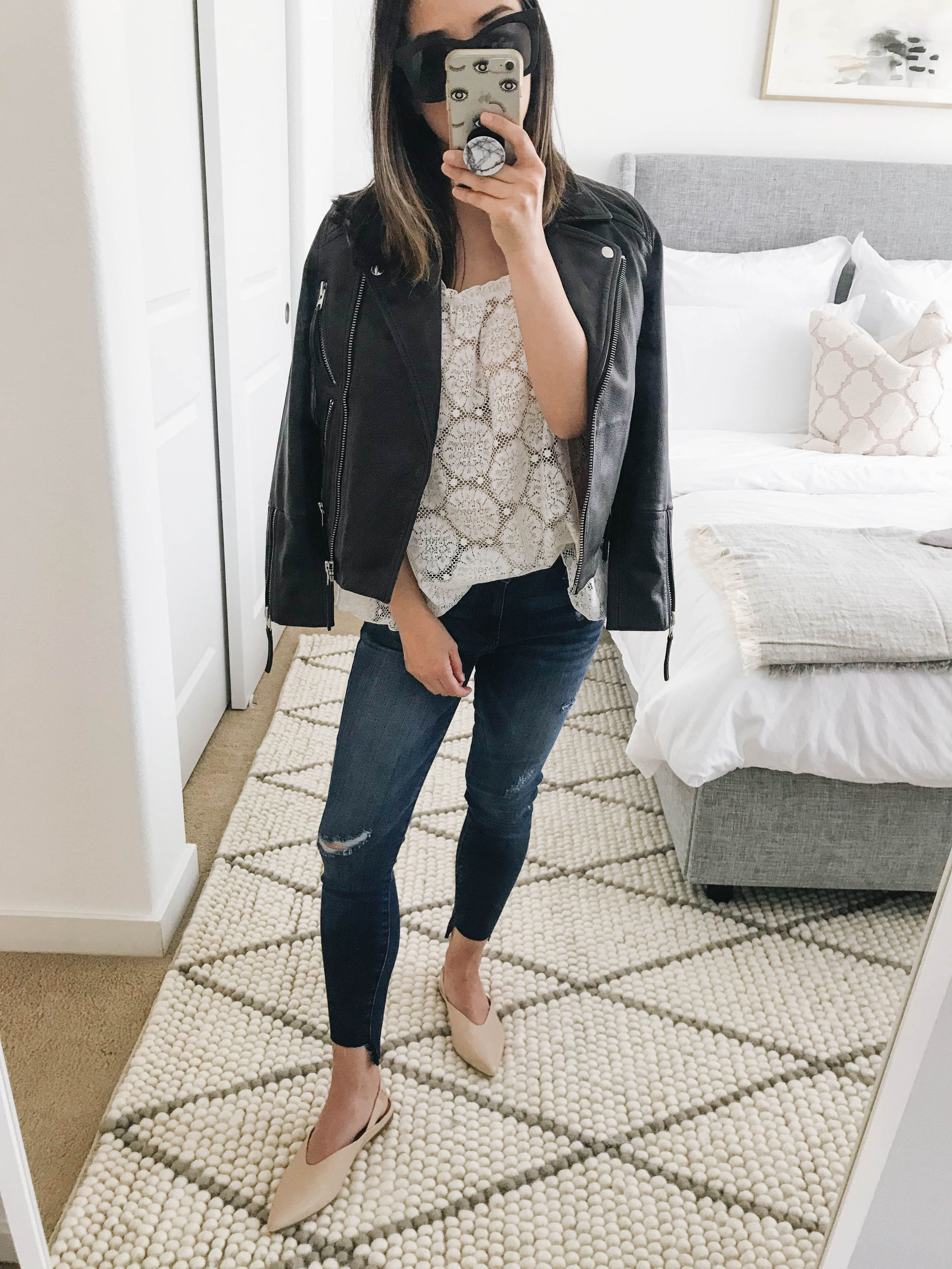 Topshop petite leather jacket