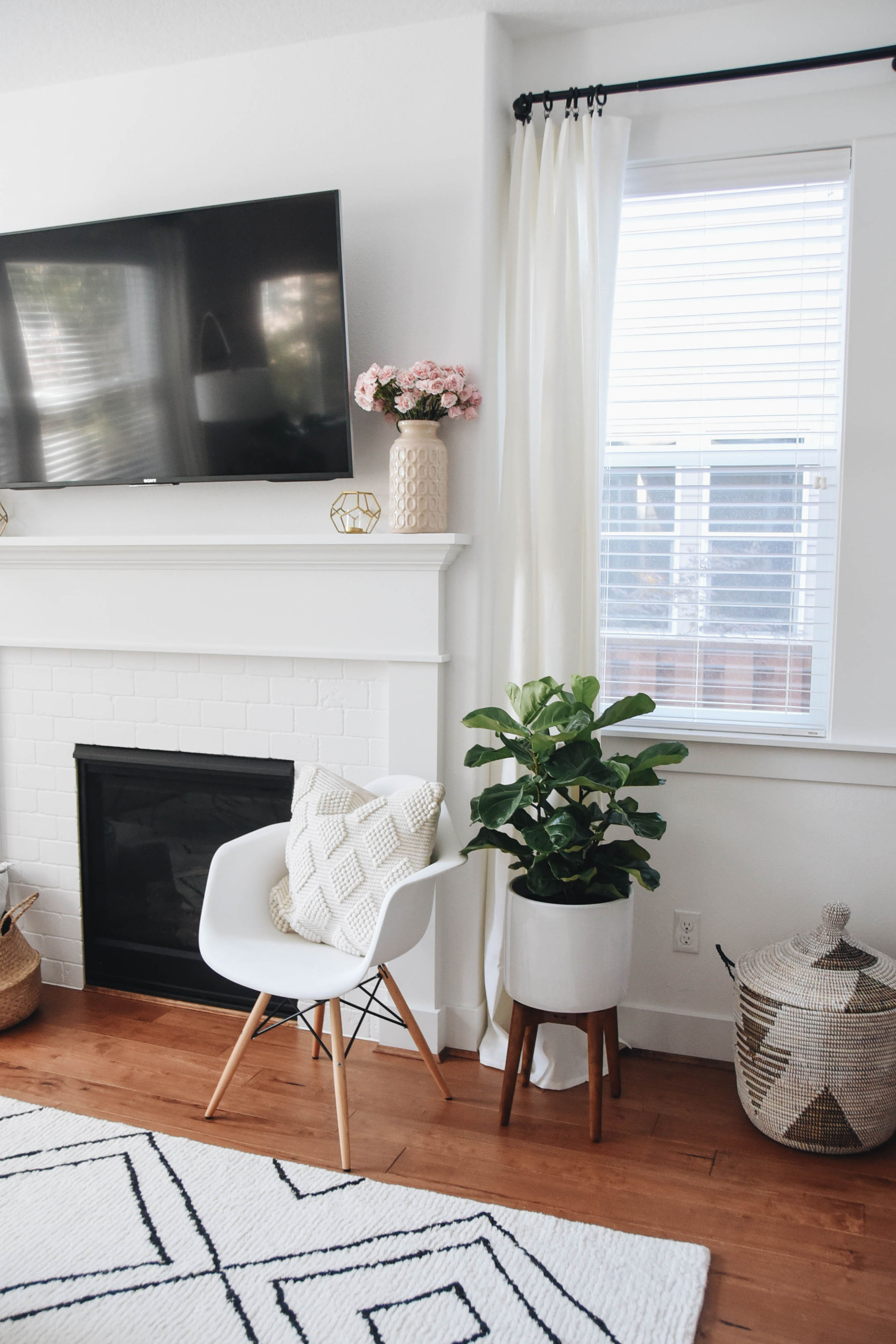 How to style fireplace with a tv