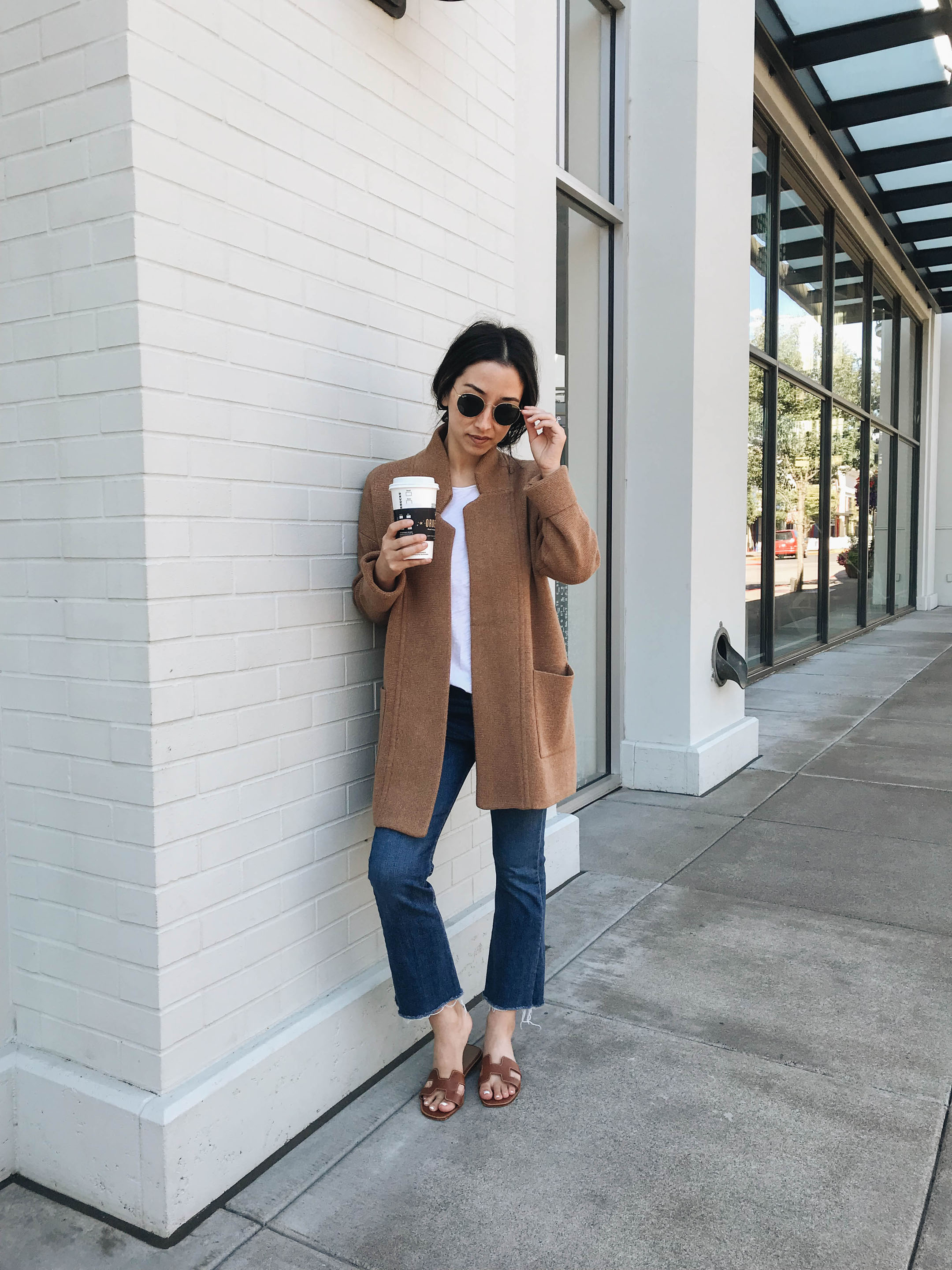 Madewell camel coatigan