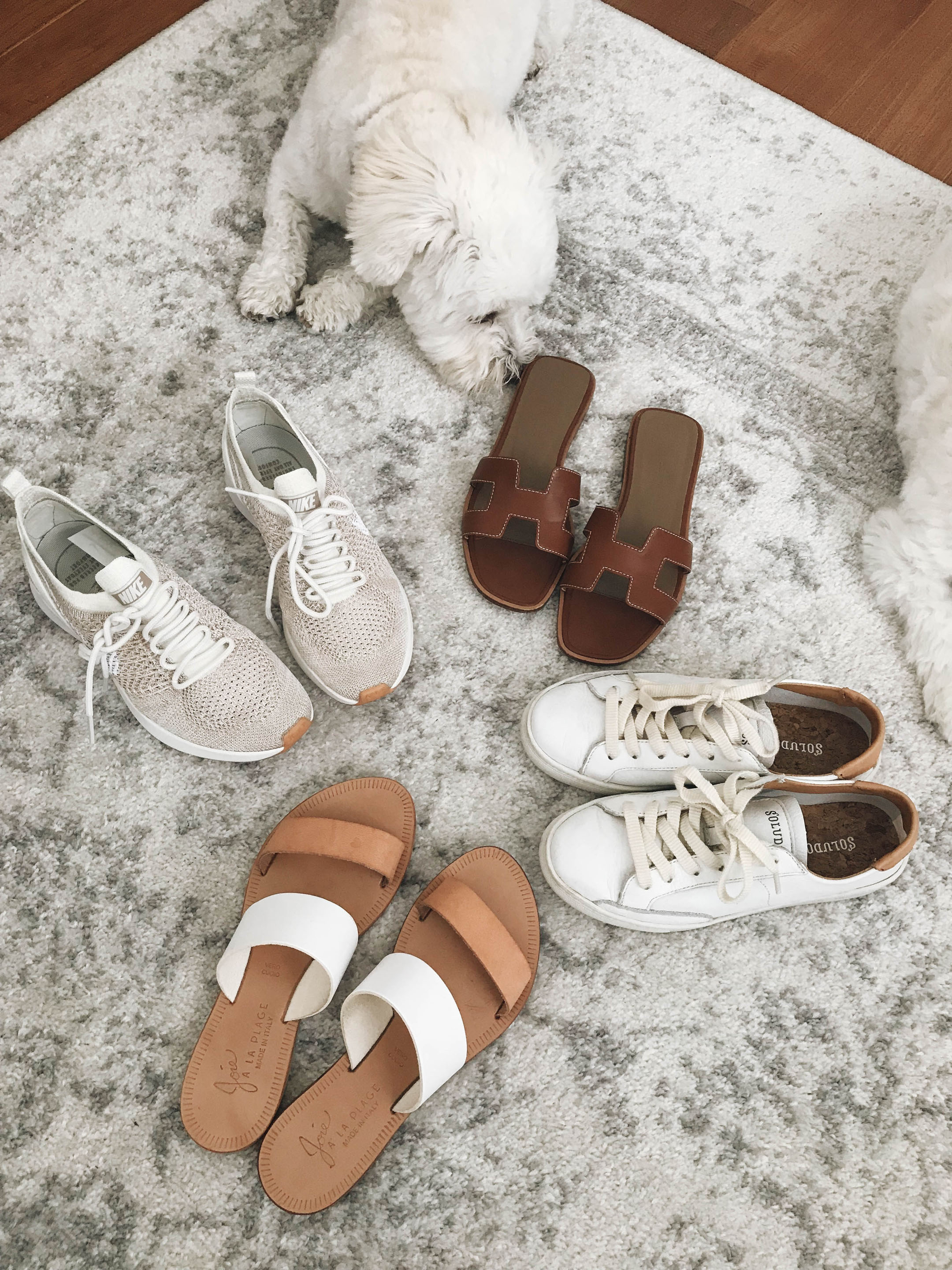 neutral summer shoes
