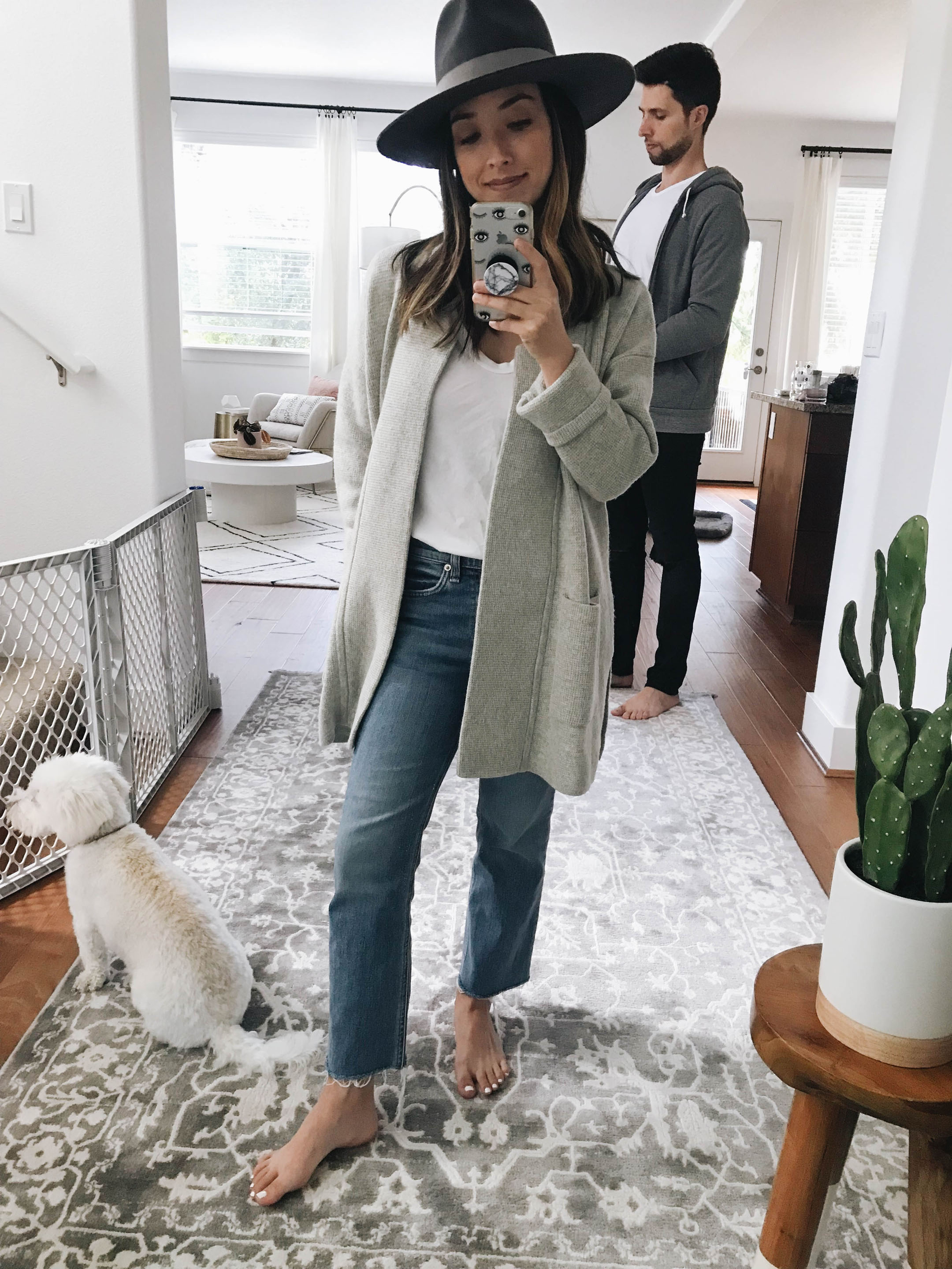 Madewell coatigan in gray