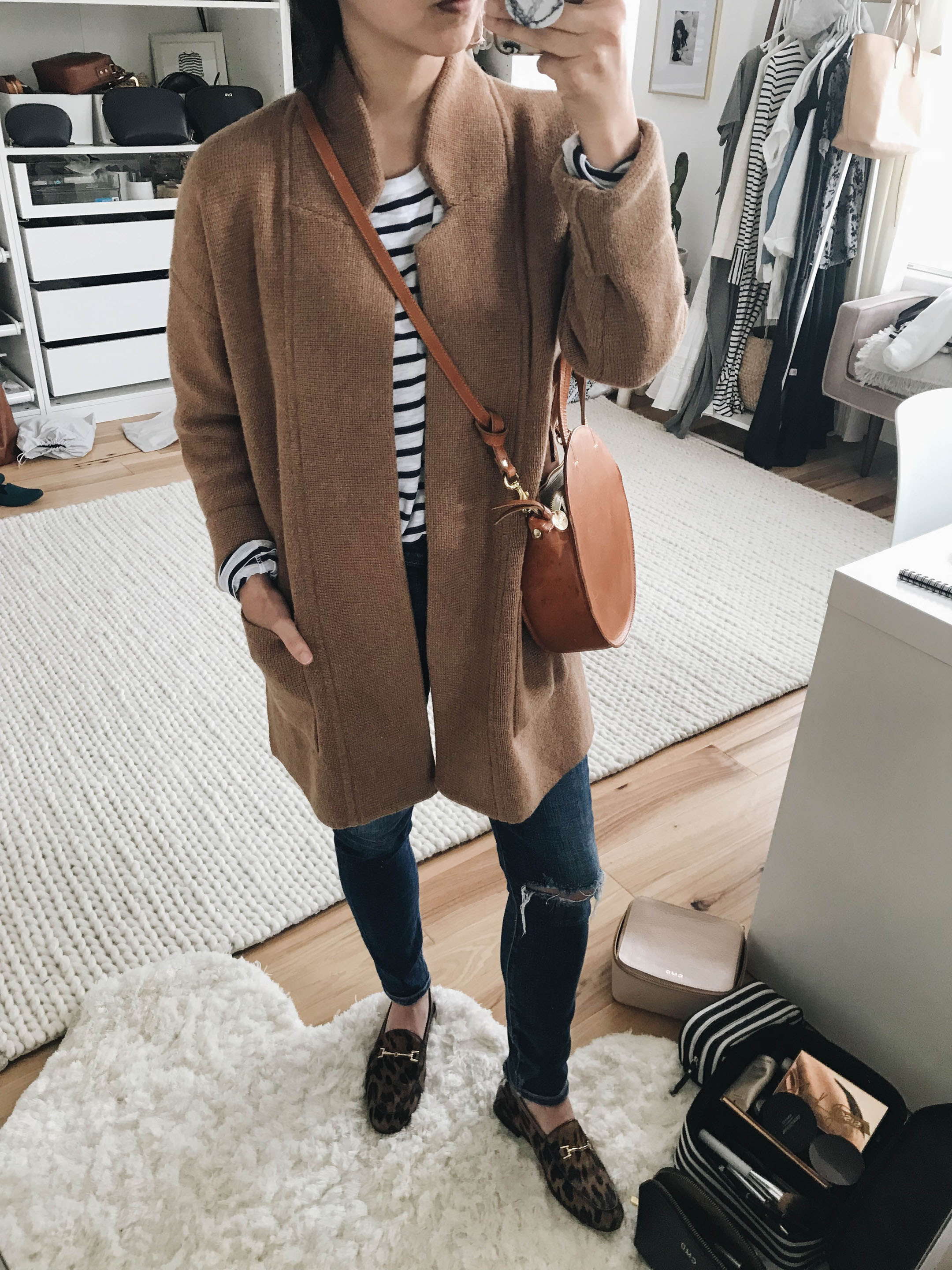 Madewell tan coatigan