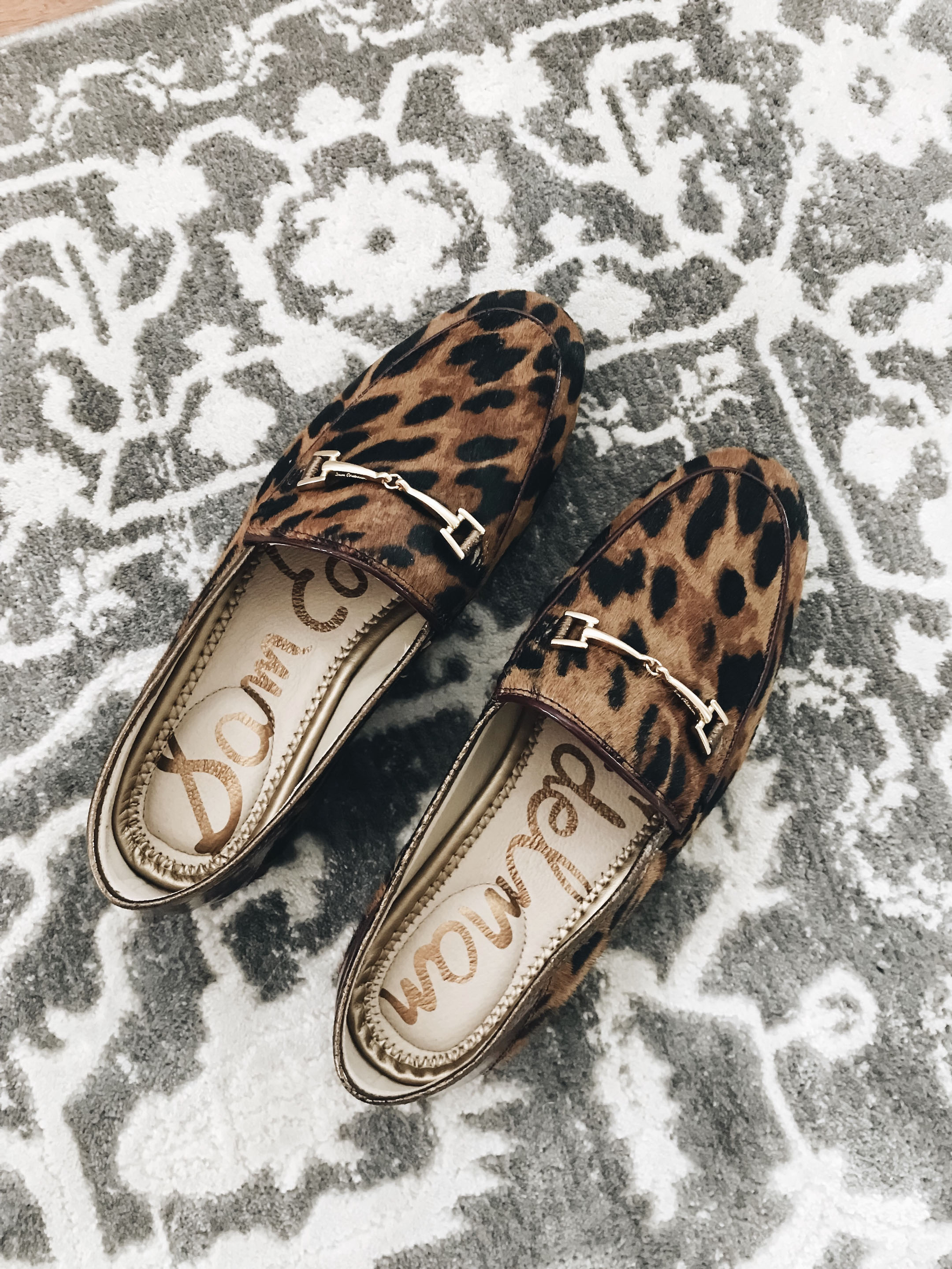 Sam Edelman leopard loafers