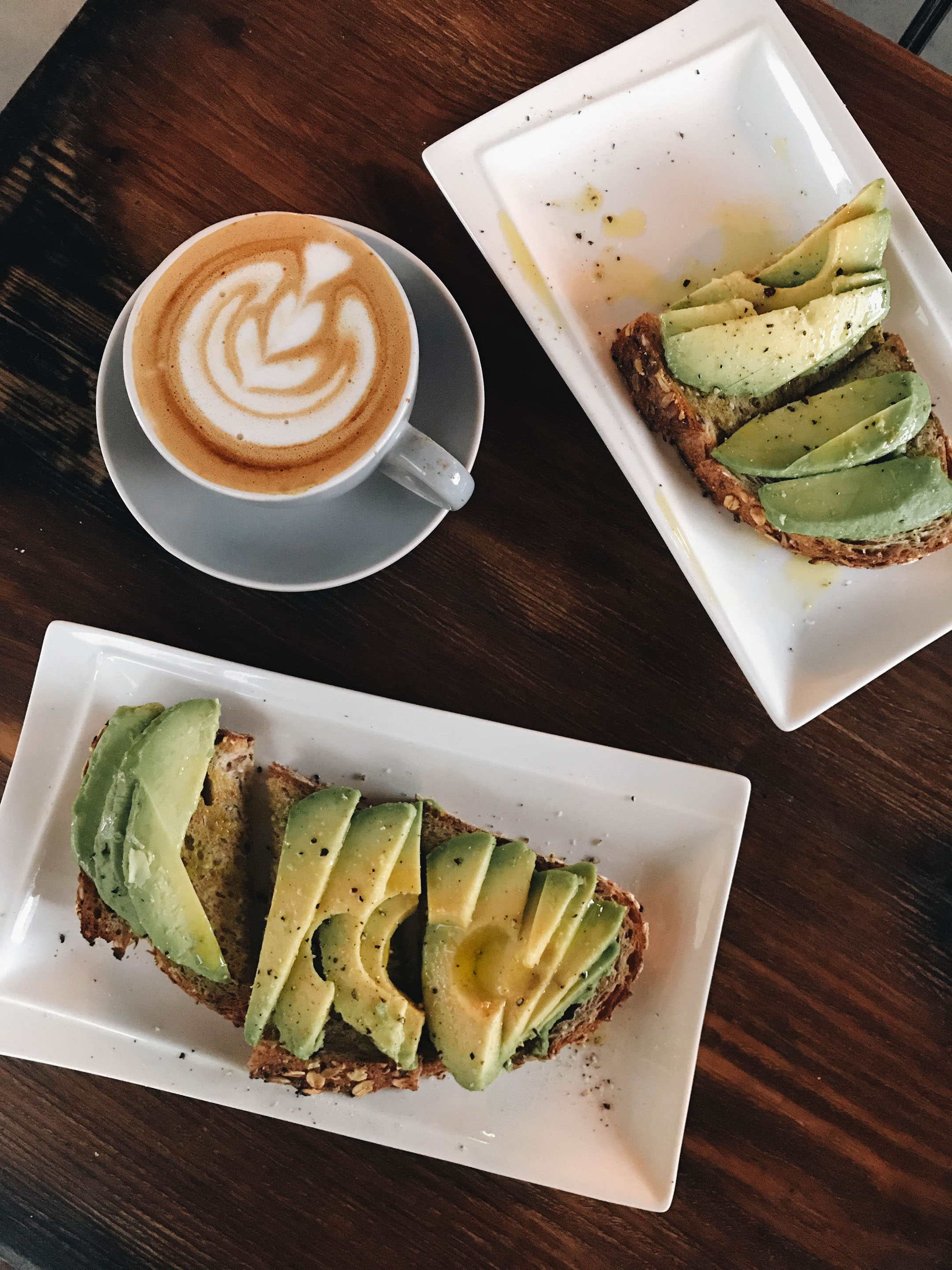 Voyager Craft Coffee avocado toast