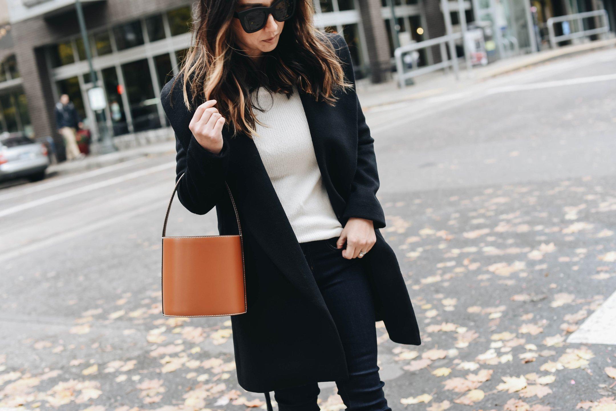 Ann Taylor black wrap coat