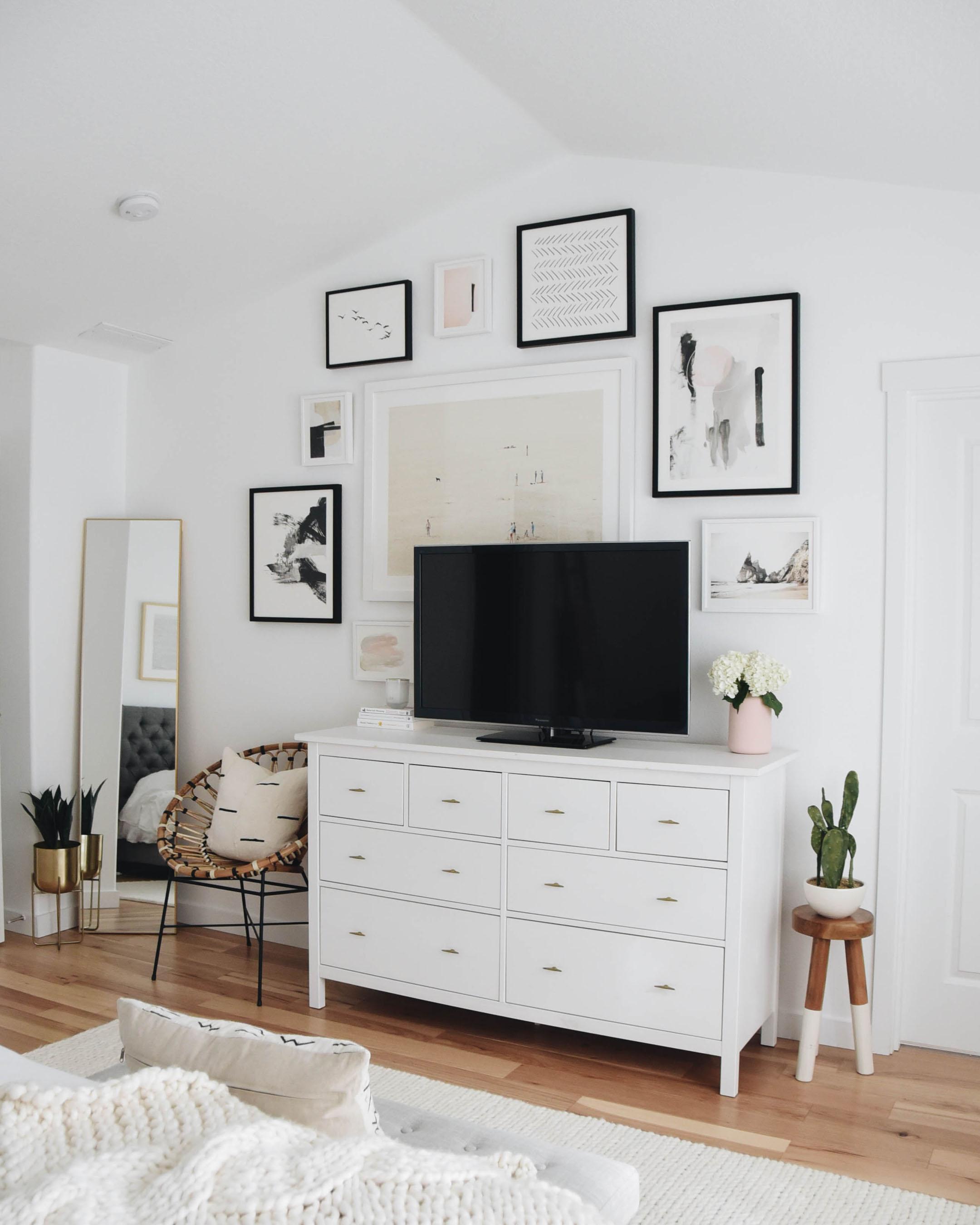 Crystalin Marie Master Bedroom Gallery Wall