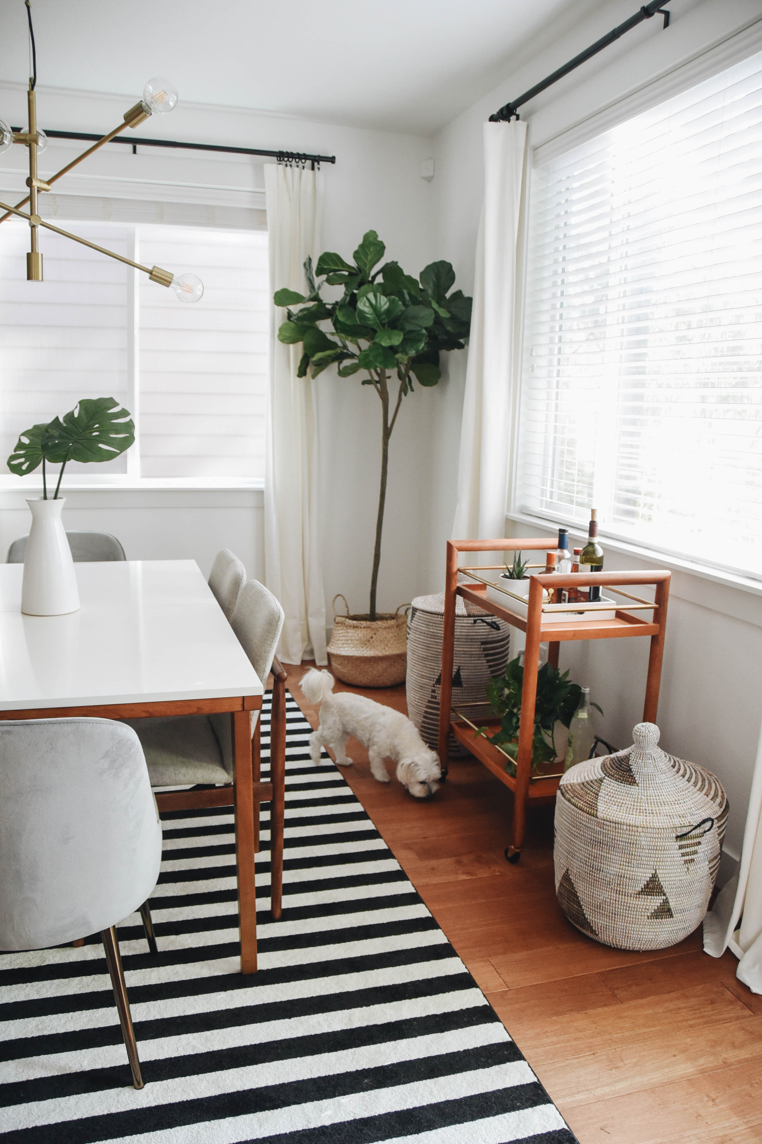 Image of: Dining Room Makeover With West Elm Crystalin Marie