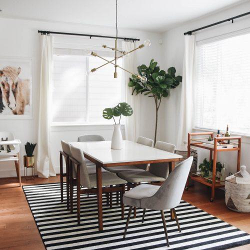 West Elm Mid-Century Velvet Dining Chair