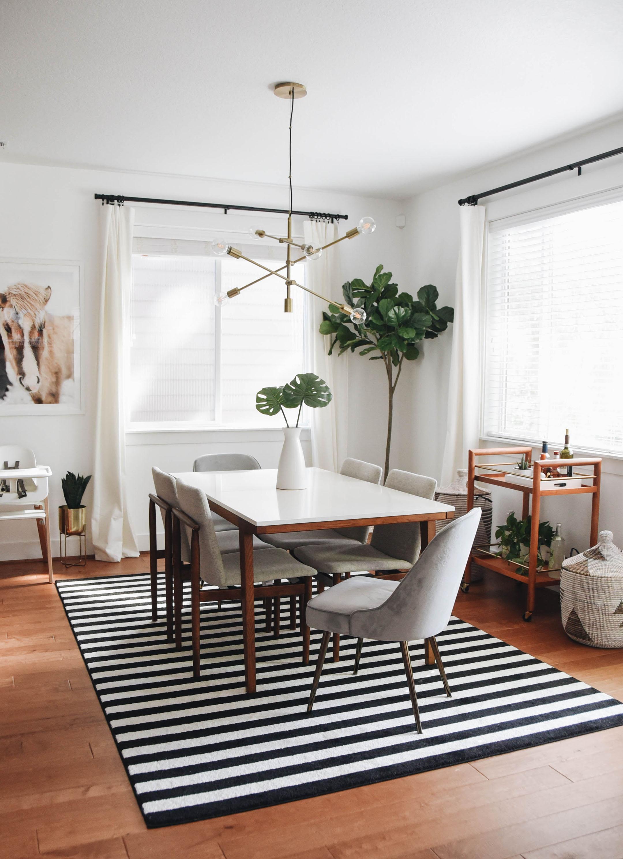 West Elm Mid Century Velvet Dining Chair