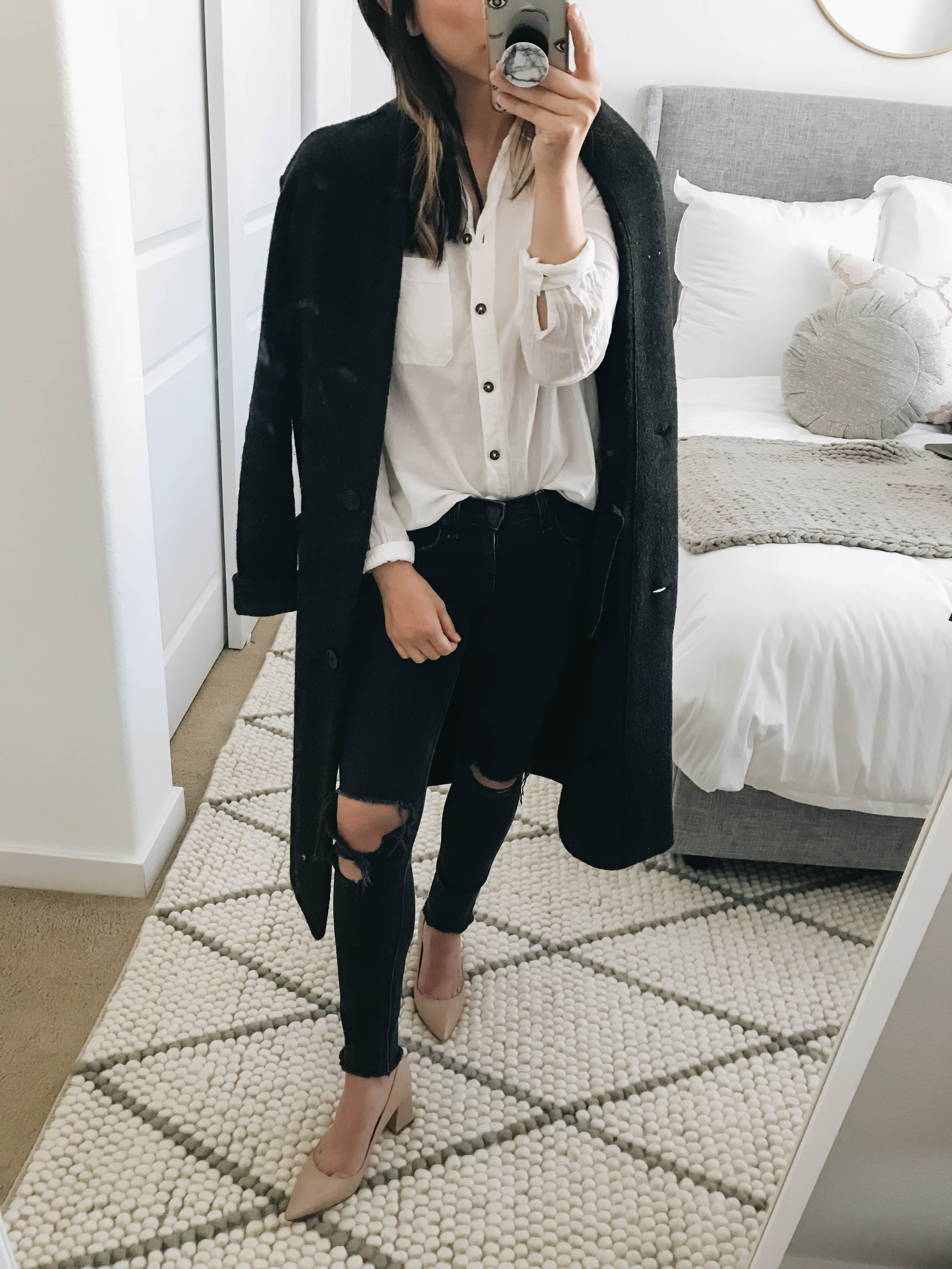 Aritzia Donegal sweater coat