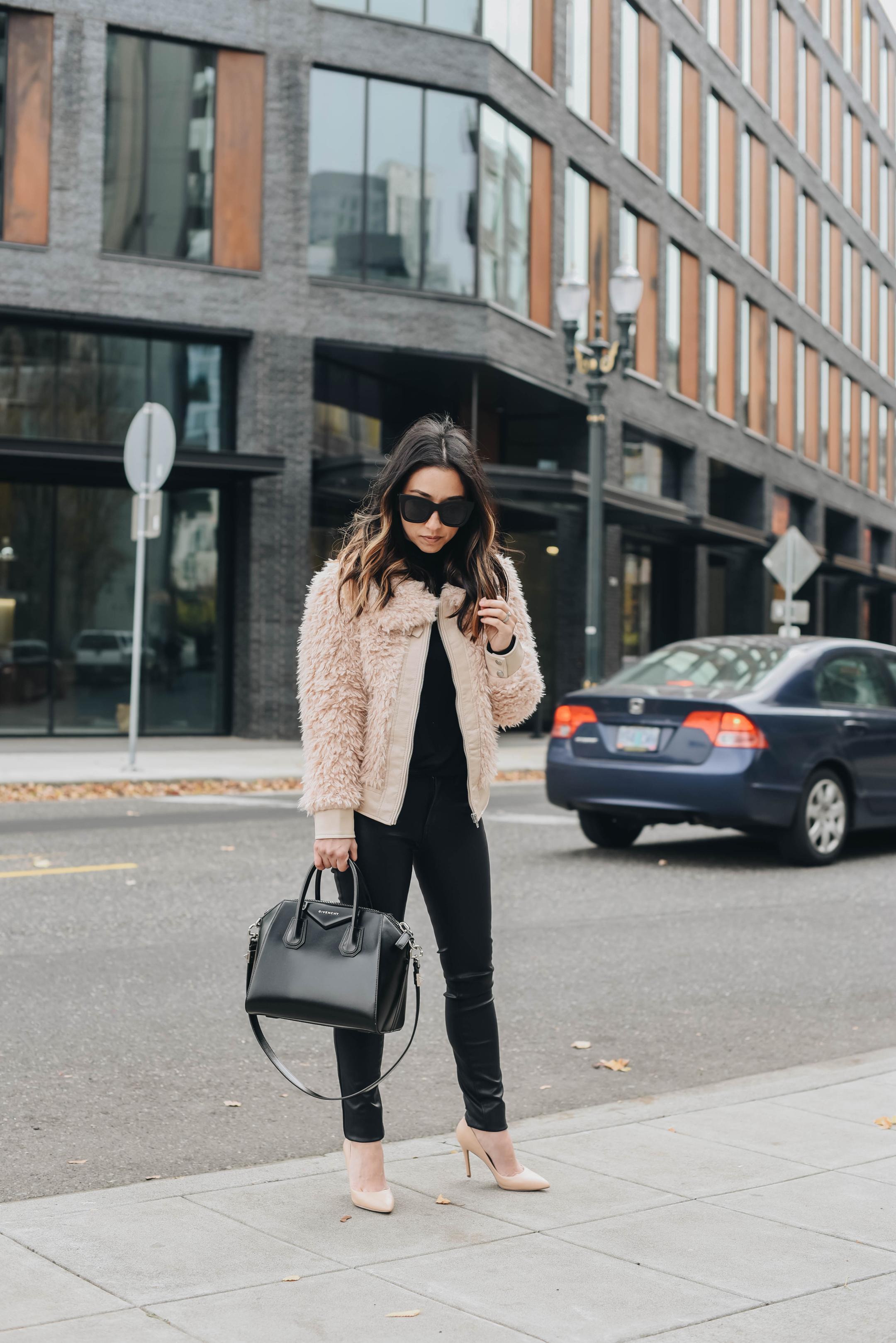 Blank NYC faux fur jacket
