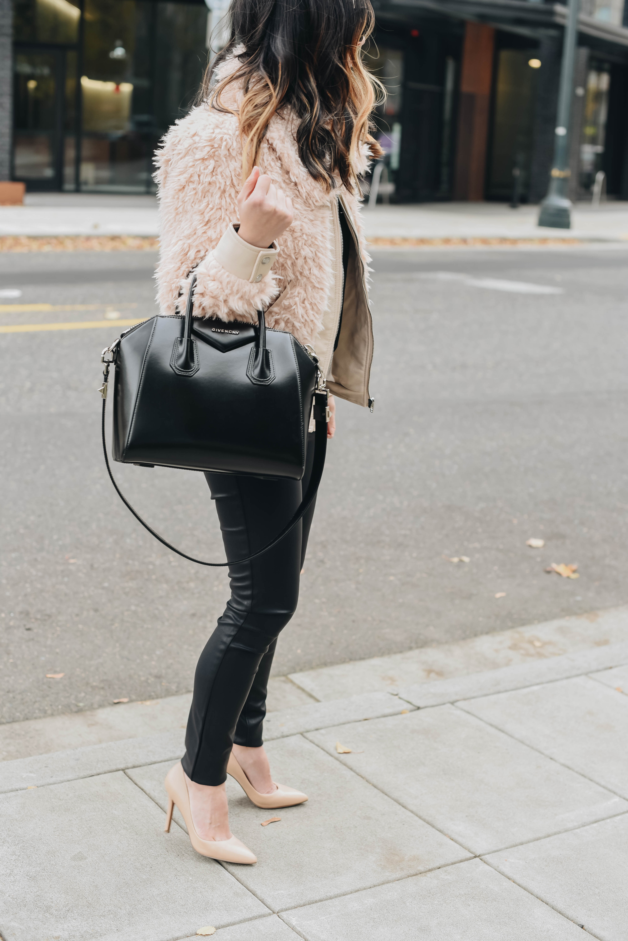 How to wear faux leather for the holidays